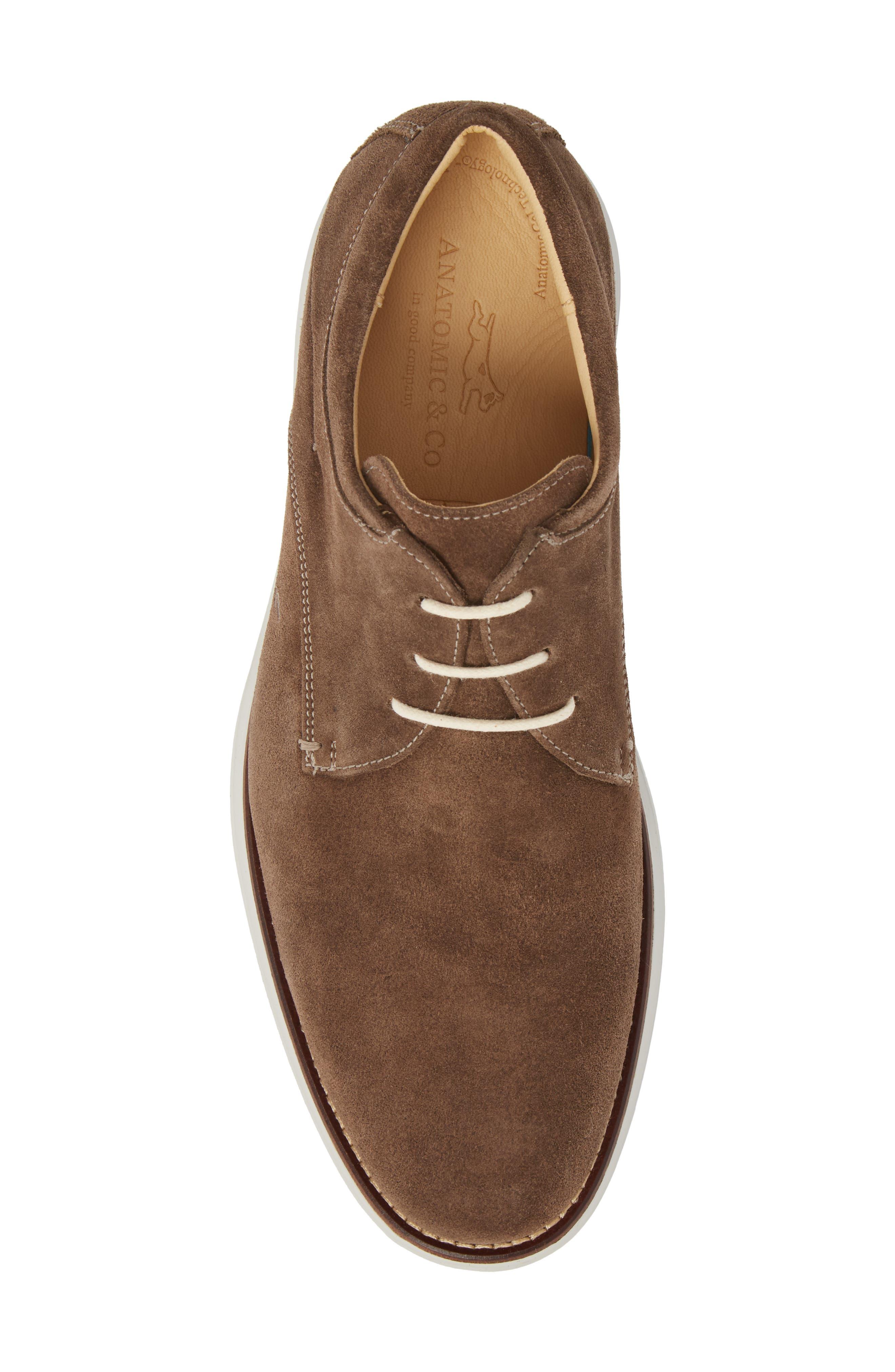 Planalto Plain Toe Derby,                             Alternate thumbnail 5, color,                             Suede Truffle Leather