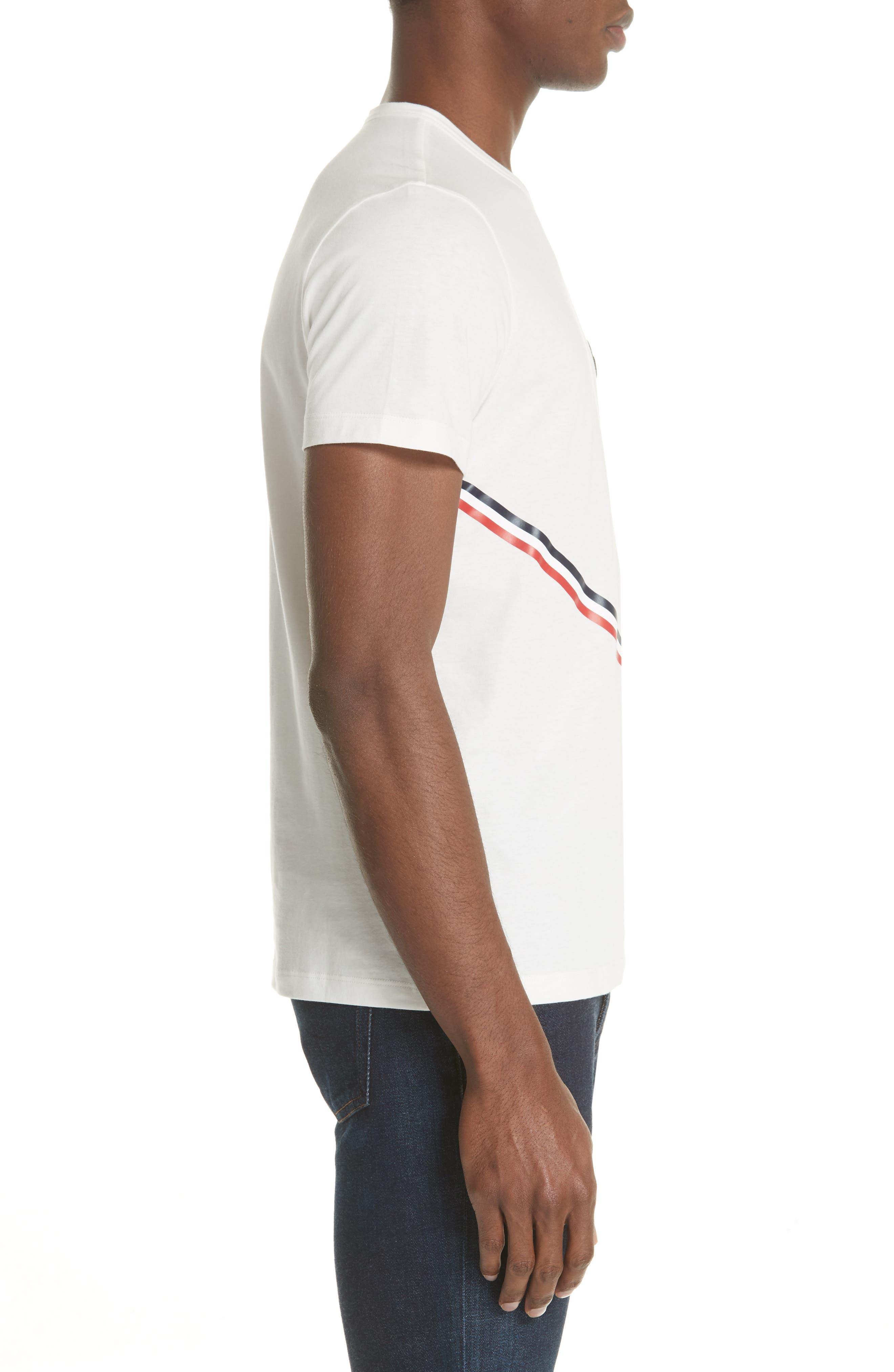 Chevron Stripe Print T-Shirt,                             Alternate thumbnail 3, color,                             Natural