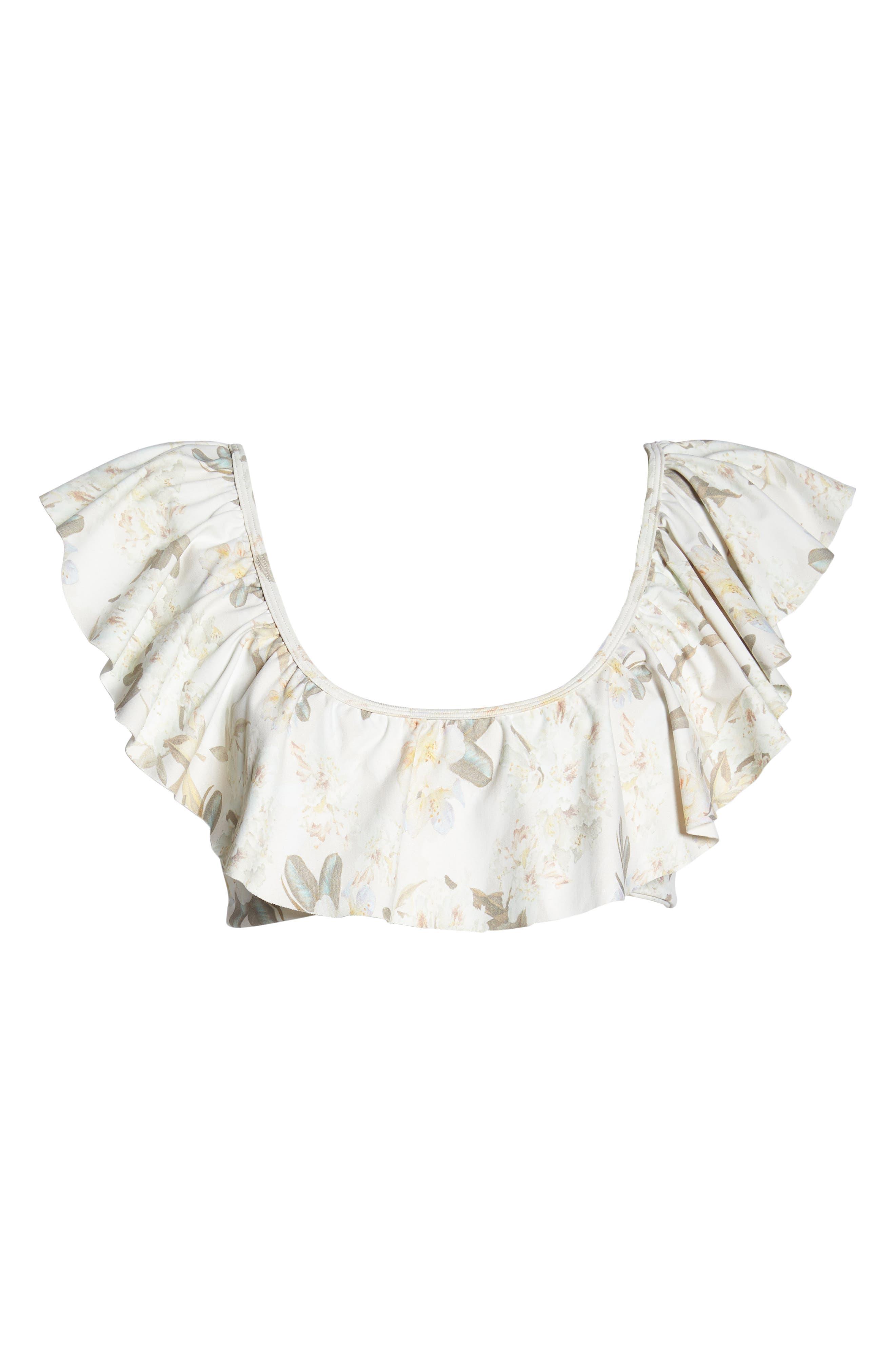 Sandrita Bikini Top,                             Alternate thumbnail 6, color,                             Ete Floral White