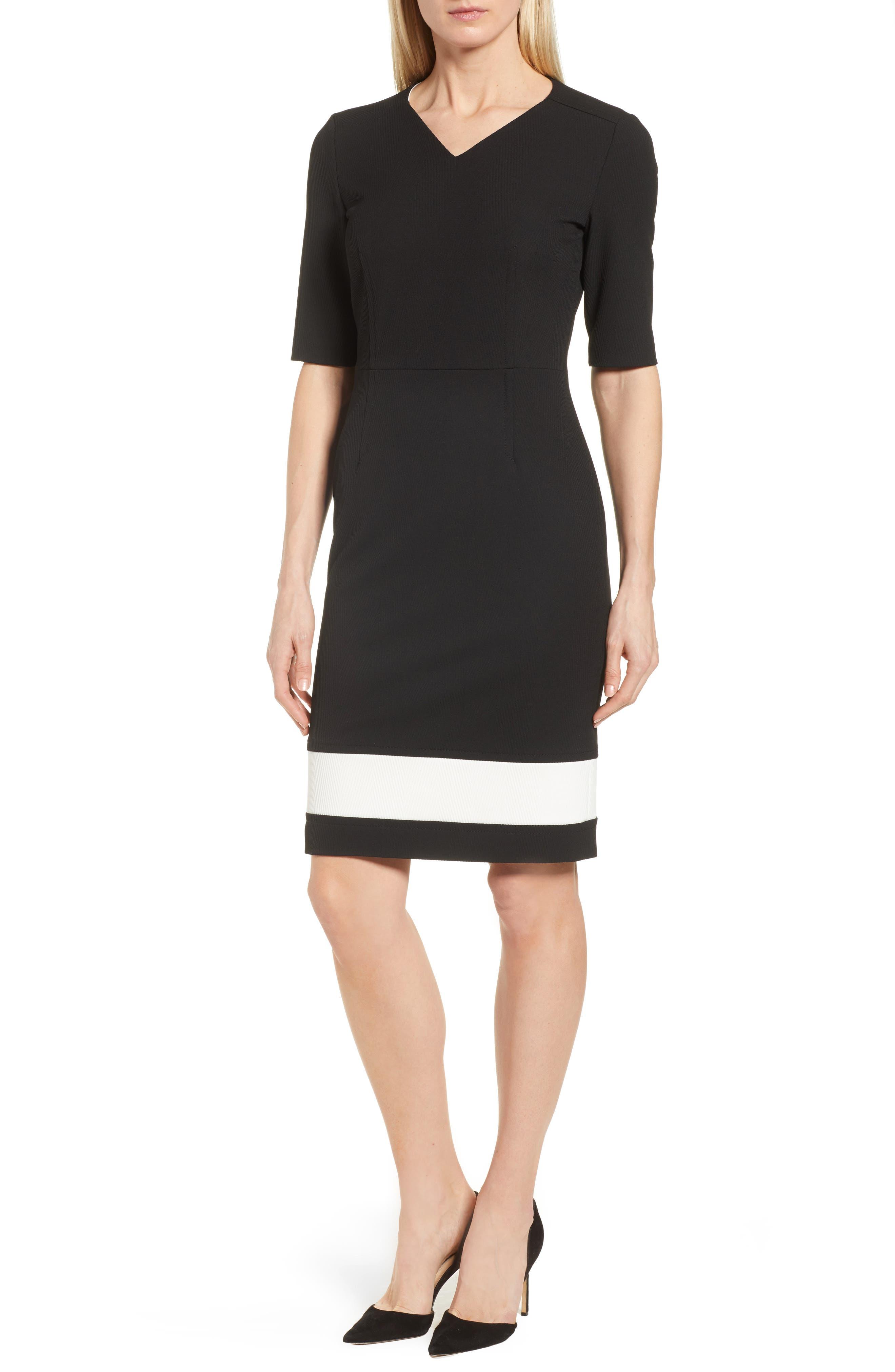 Dasmia Sheath Dress,                             Main thumbnail 1, color,                             Black