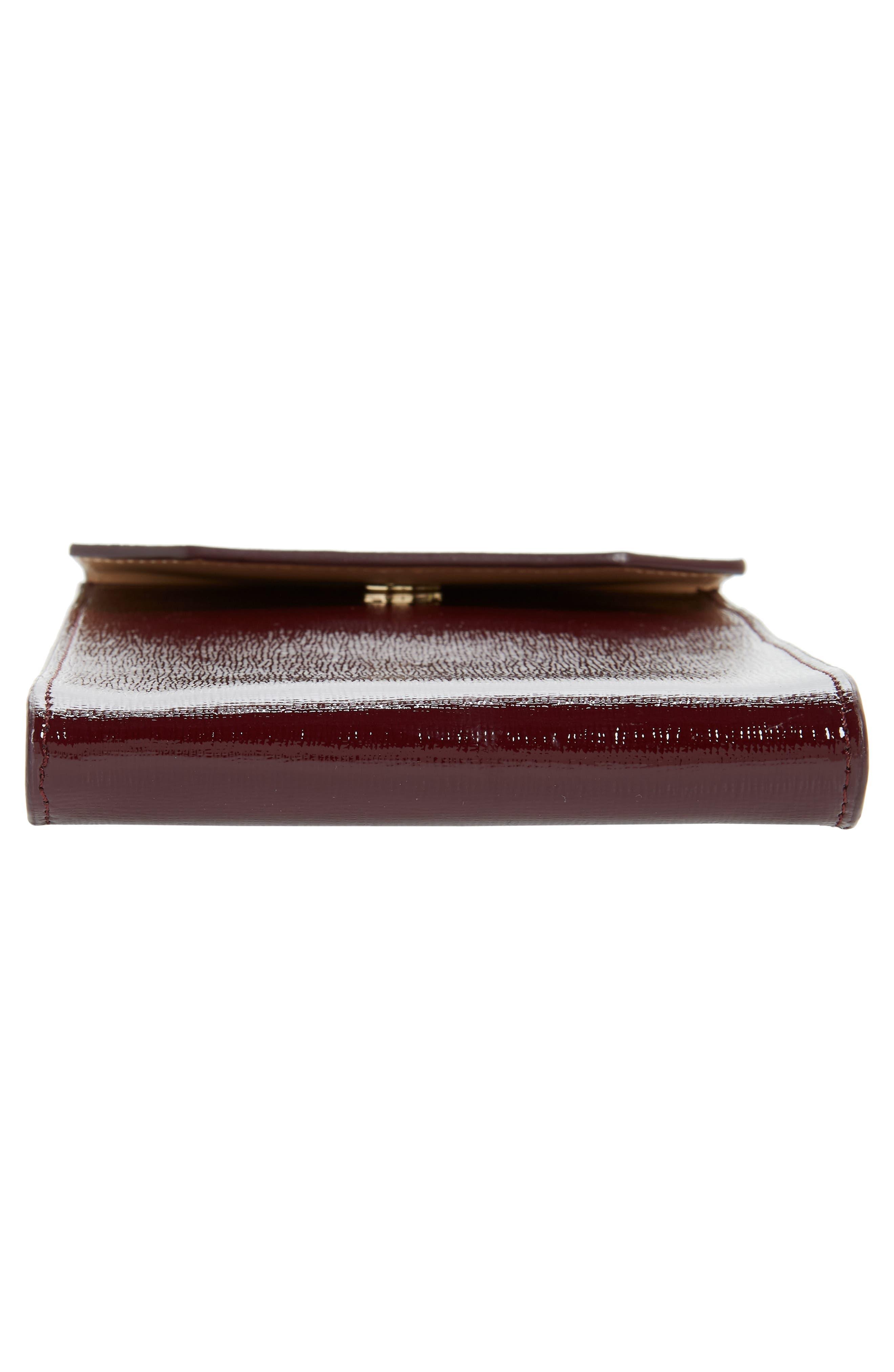 Leather Phone Crossbody Bag,                             Alternate thumbnail 6, color,                             Burgundy Royale