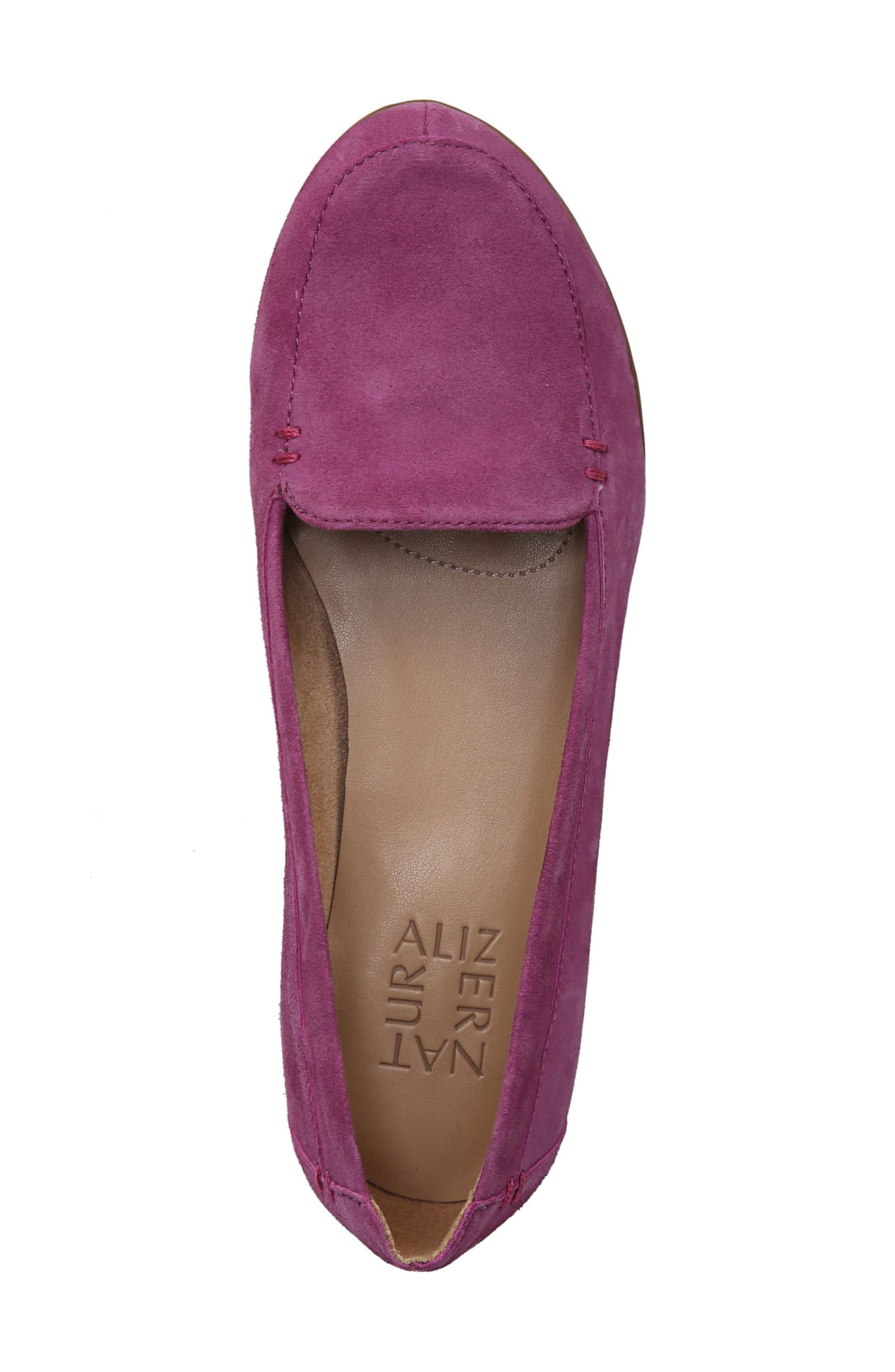 'Saban' Leather Loafer,                             Alternate thumbnail 6, color,                             Radiant Orchid Suede