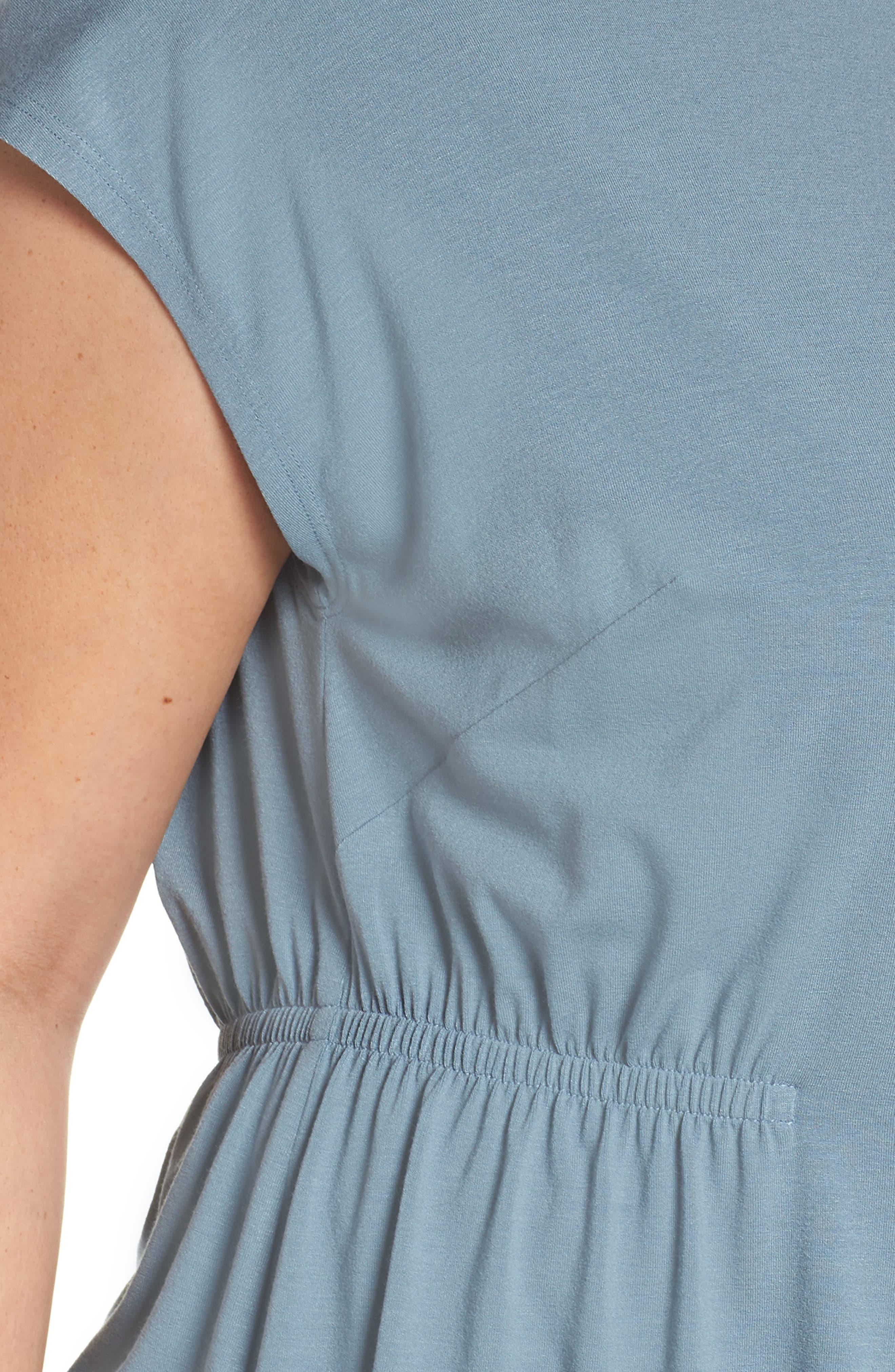 Asymmetrical Jersey Top,                             Alternate thumbnail 4, color,                             Blue Steel