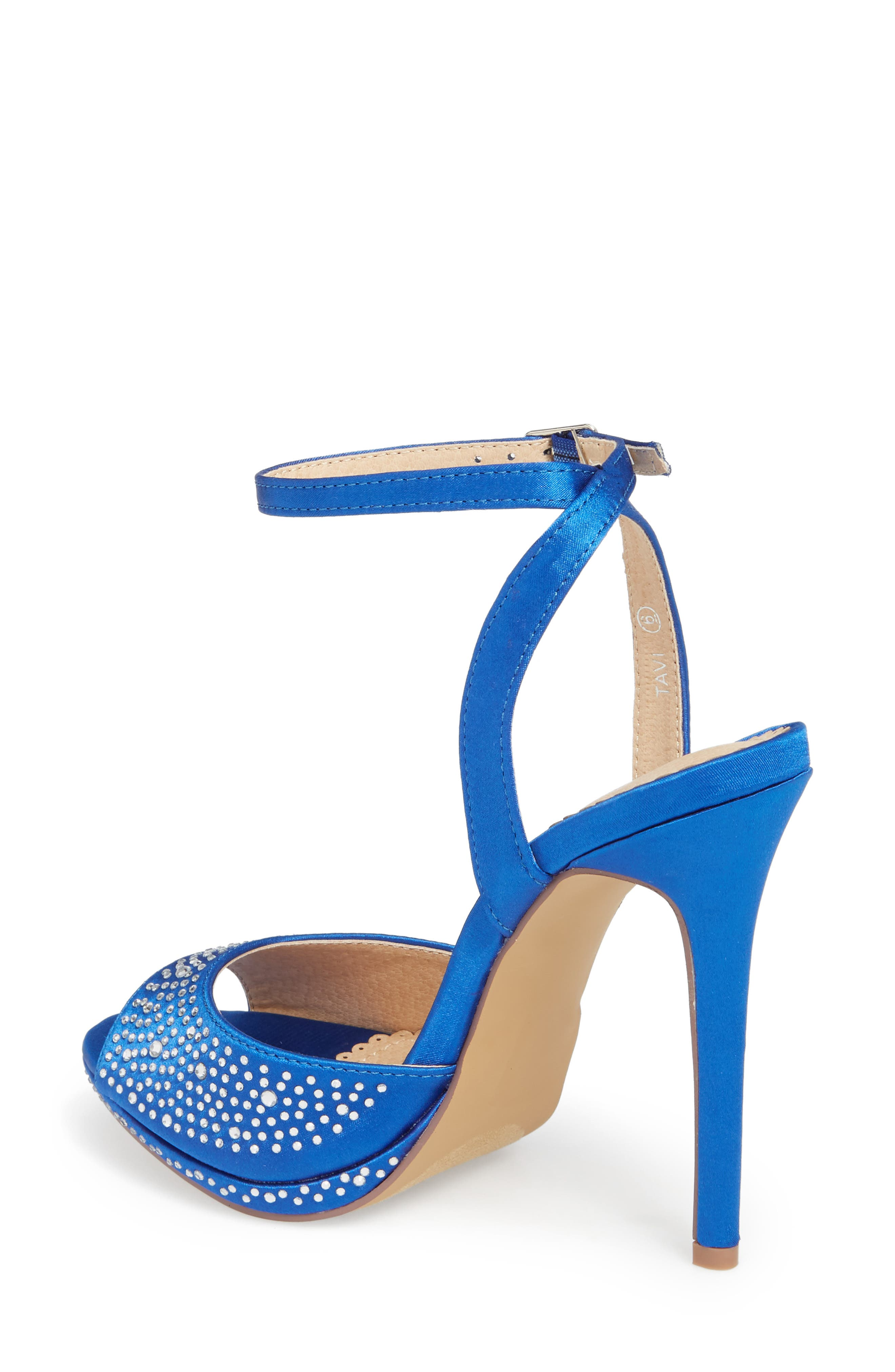 Tavi Sandal,                             Alternate thumbnail 2, color,                             Royal Blue Fabric
