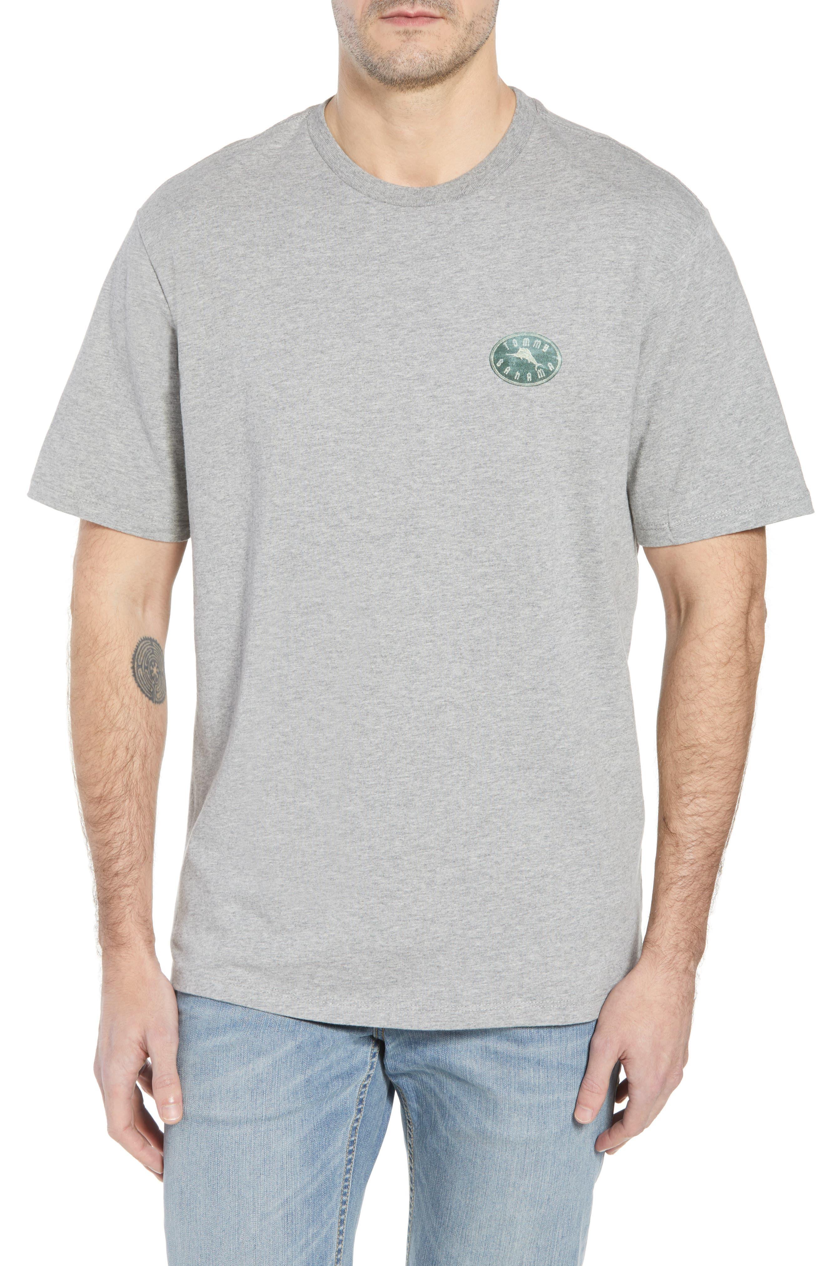 Chalk & Roll T-Shirt,                         Main,                         color, Grey Heather