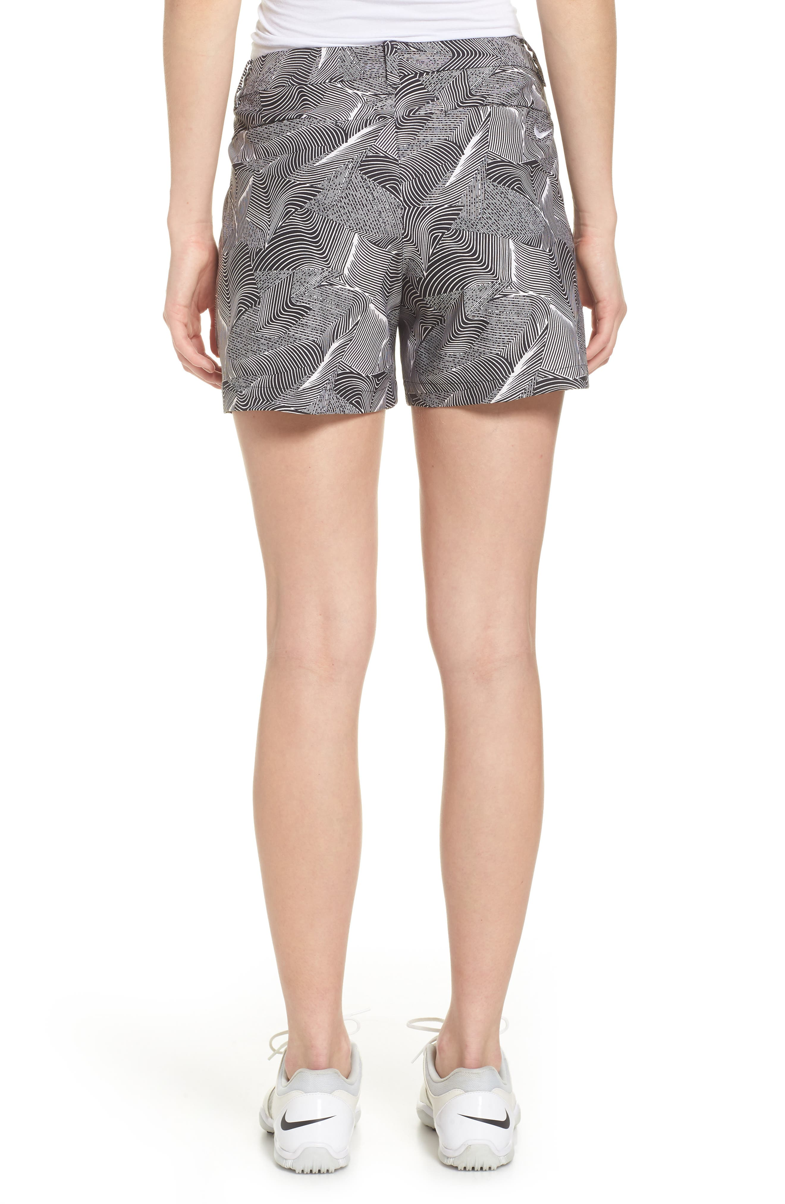 Flex Golf Shorts,                             Alternate thumbnail 2, color,                             White/ Black/ White