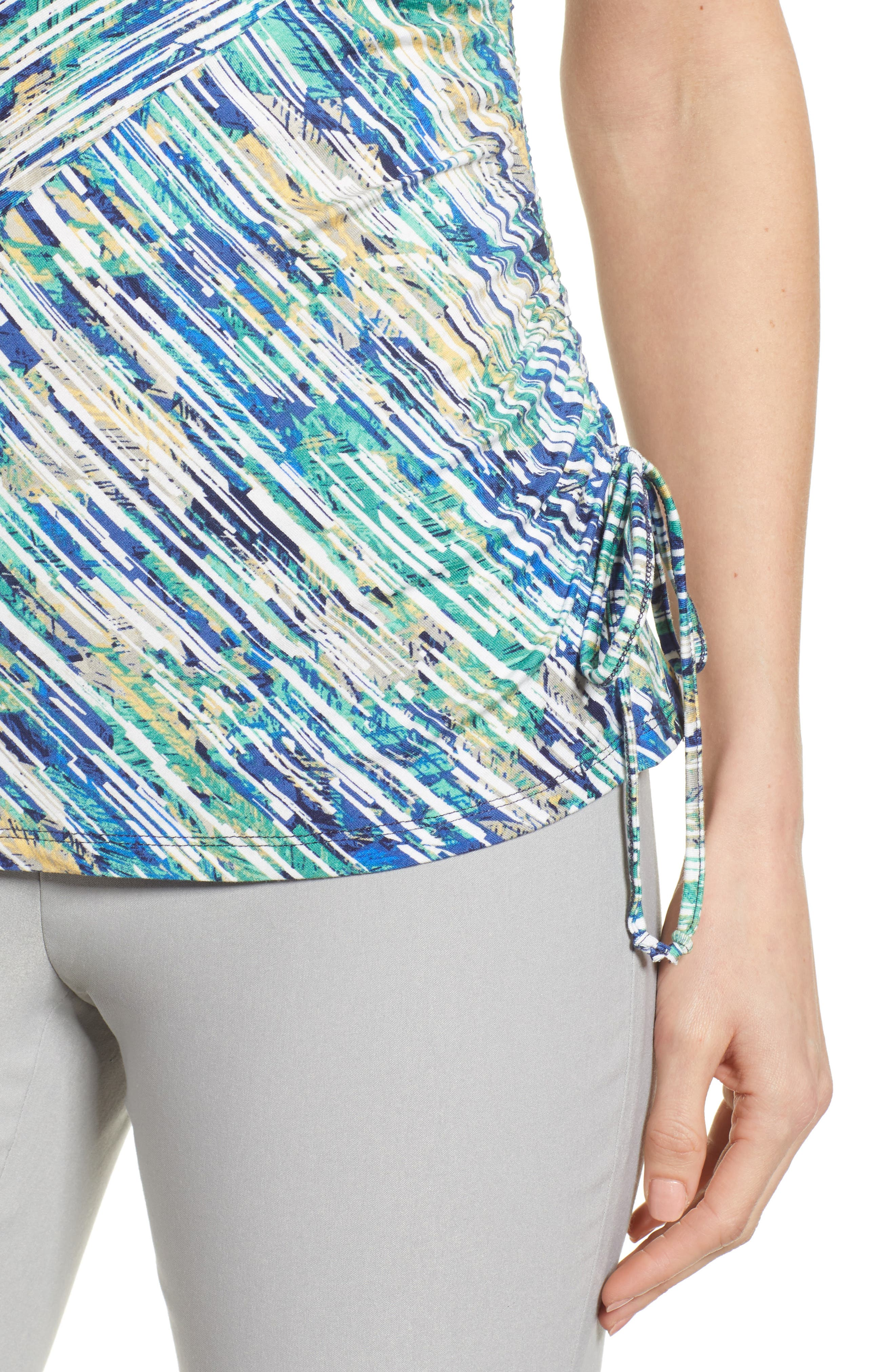 Mirage Ruched Tank,                             Alternate thumbnail 4, color,                             Multi