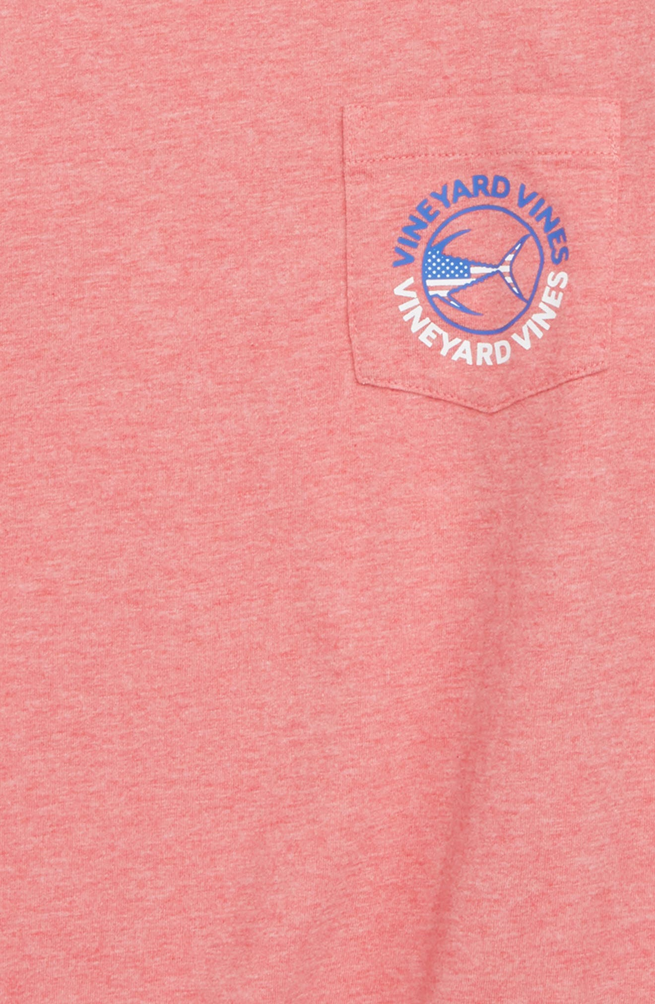 Tuna USA Pocket T-Shirt,                             Alternate thumbnail 3, color,                             Jetty Red