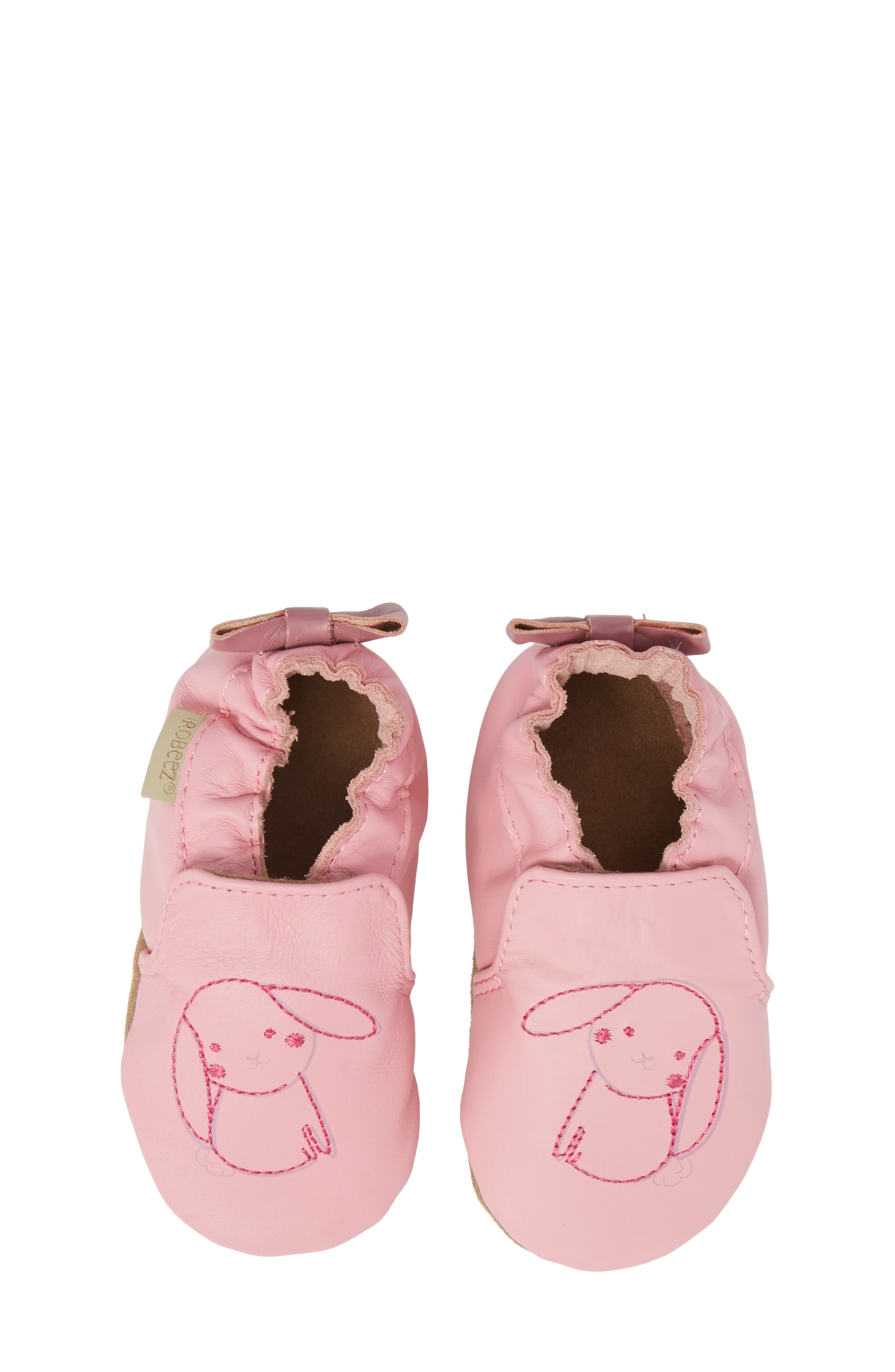 Robeez® Sweet Bunny Moccasin Crib Shoe (Baby & Walker)