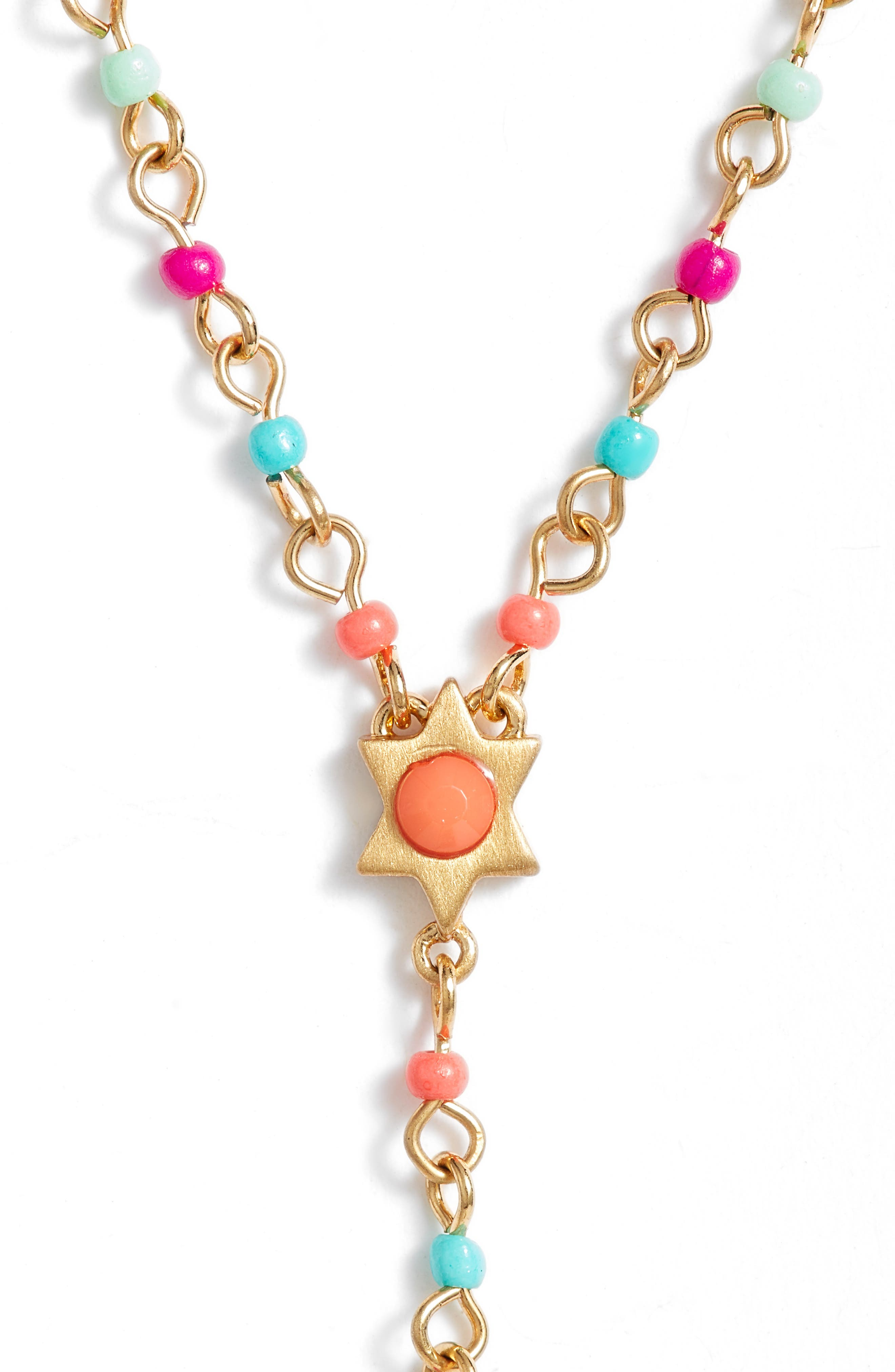 Sole Beaded Y-Necklace,                             Alternate thumbnail 2, color,                             Bright Multi/ Gold
