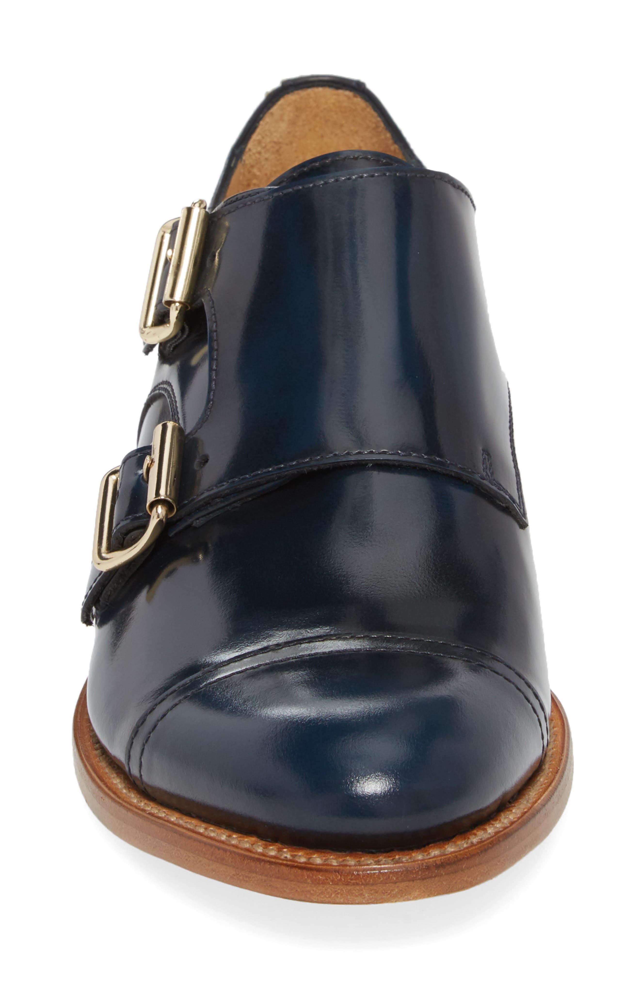 Mr. Colin Double Monk Strap Shoe,                             Alternate thumbnail 4, color,                             Ocean