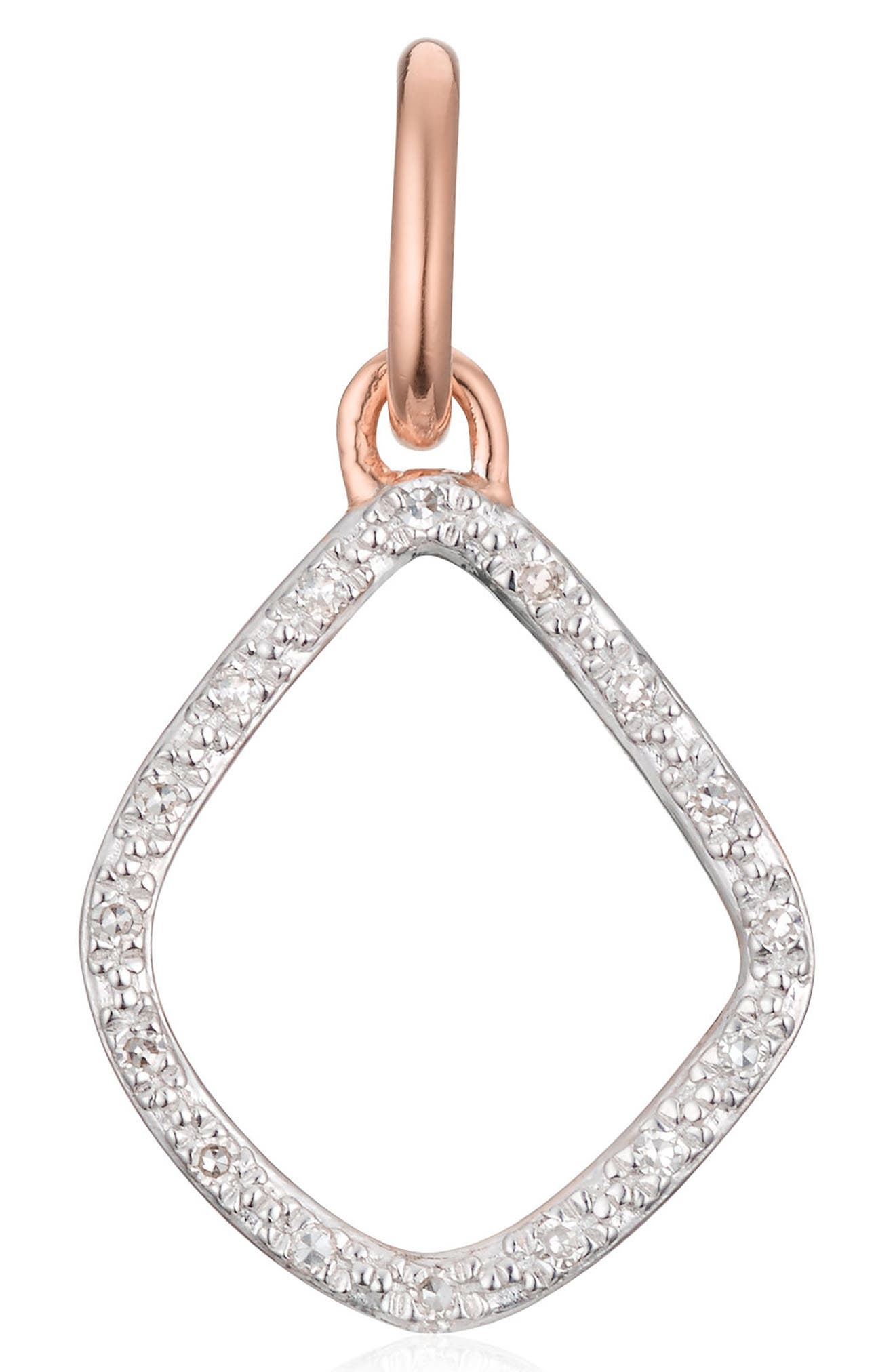 Riva Diamond Kite Pendant,                         Main,                         color, Rose Gold
