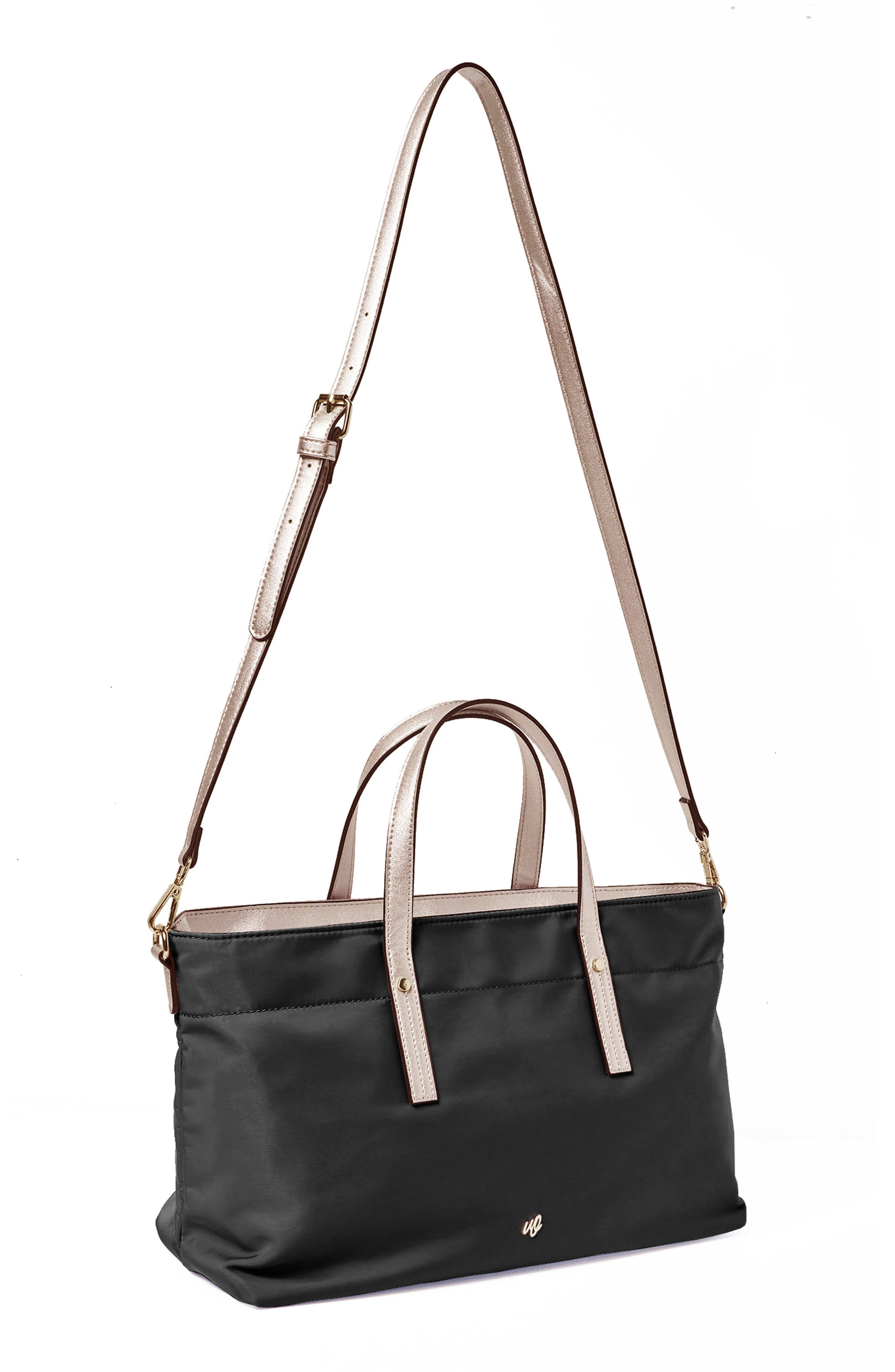 Superstar Nylon Tote,                             Alternate thumbnail 3, color,                             Black/ Rose Gold