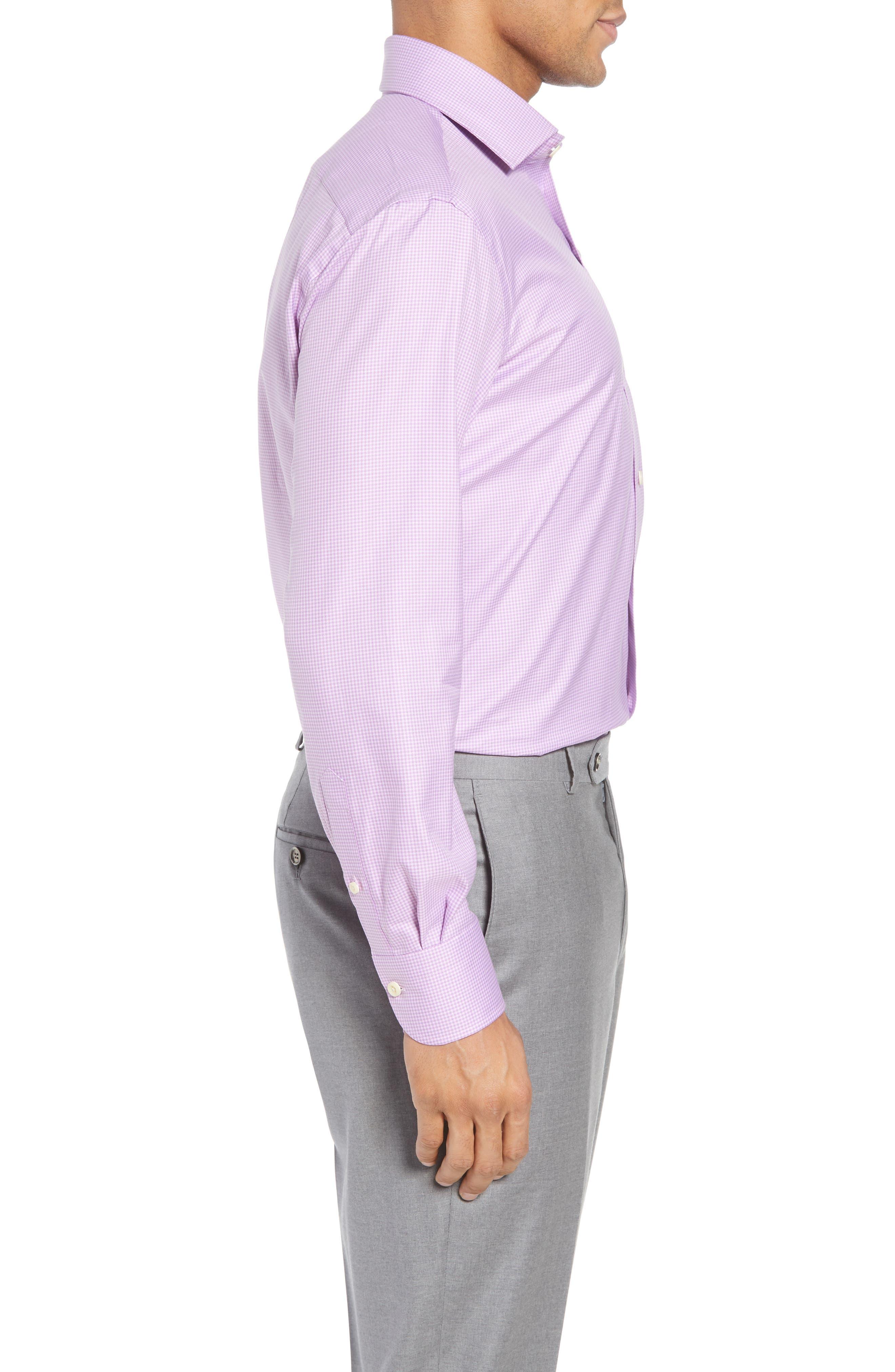 Innis Slim Fit Check Dress Shirt,                             Alternate thumbnail 3, color,                             Lilac