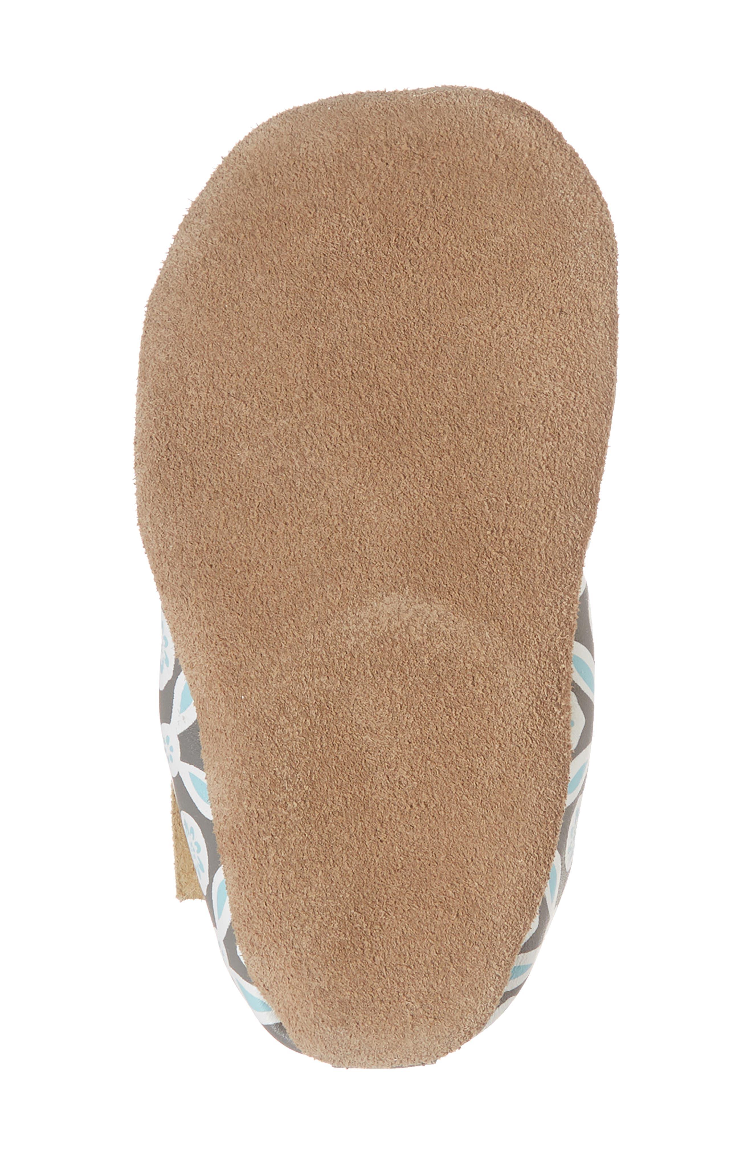 Khloe Moccasin Crib Shoe,                             Alternate thumbnail 6, color,                             Charcoal