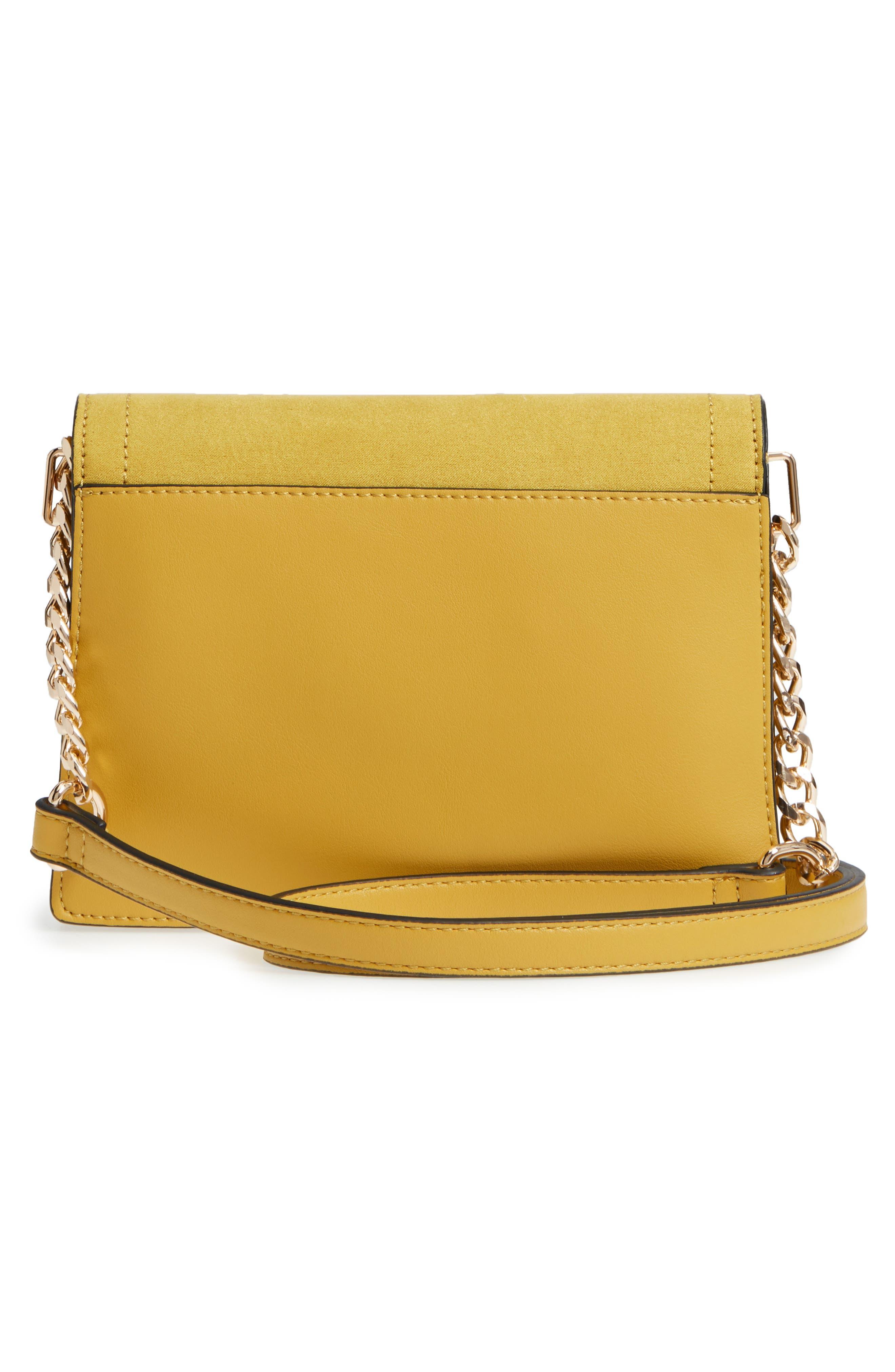 Seline Faux Leather Crossbody Bag,                             Alternate thumbnail 3, color,                             Yellow Multi