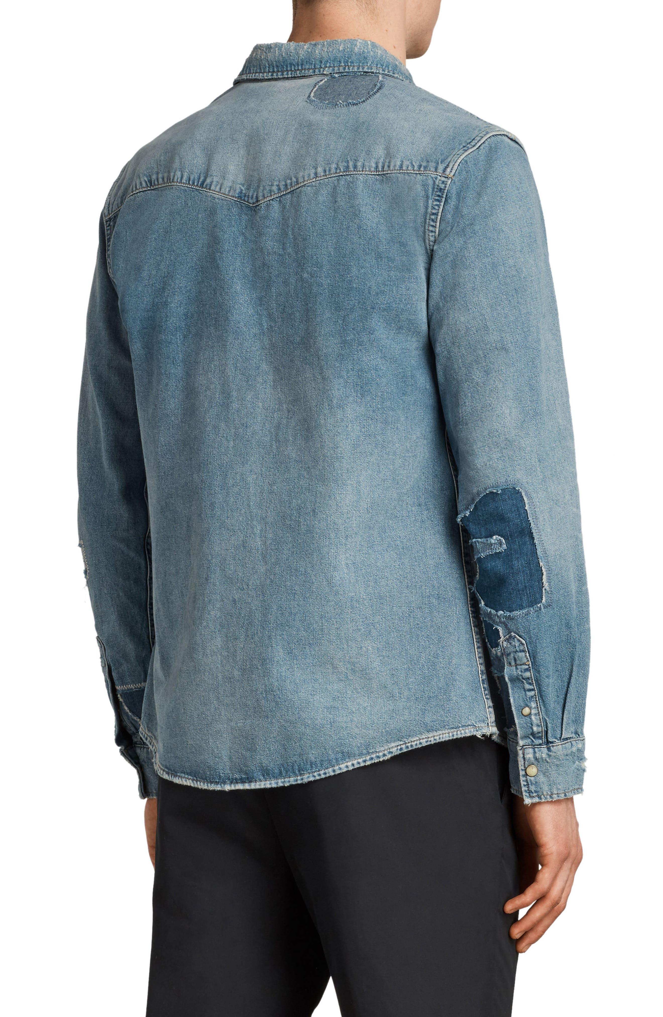 Ilex Slim Fit Sport Shirt,                             Alternate thumbnail 2, color,                             Indigo
