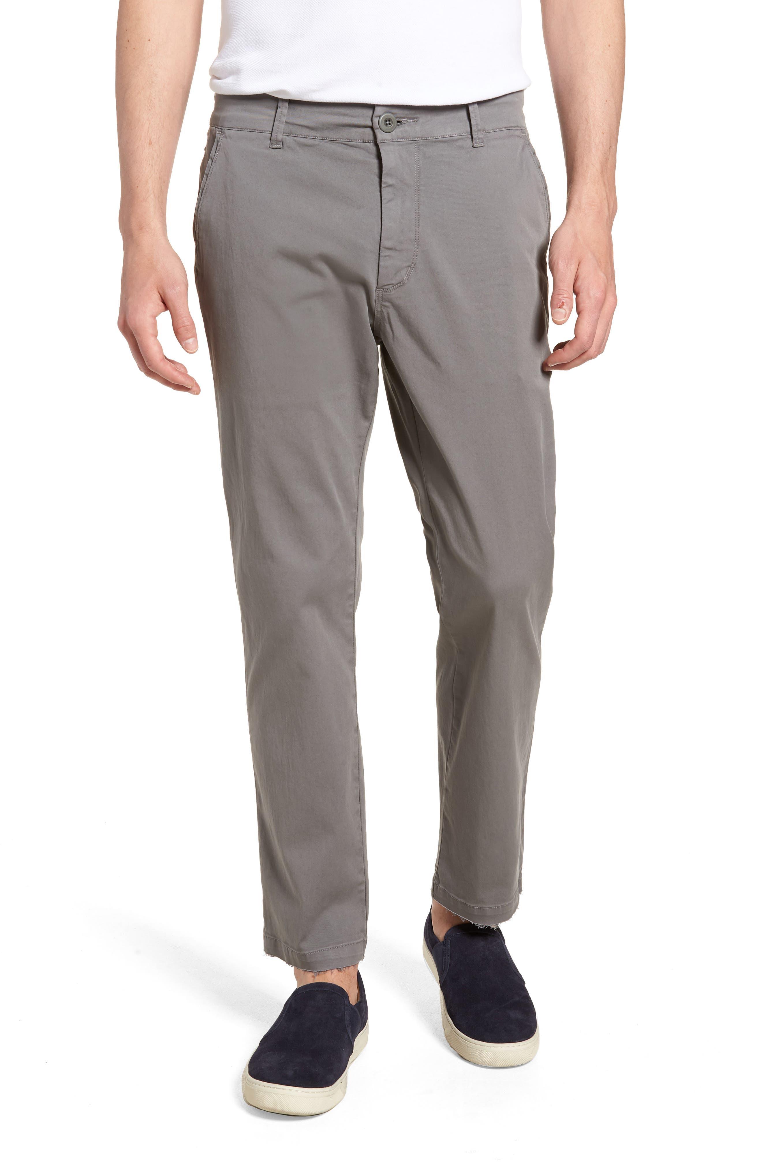 Hudson Clint Stretch Chino Pants,                             Main thumbnail 1, color,                             Grey