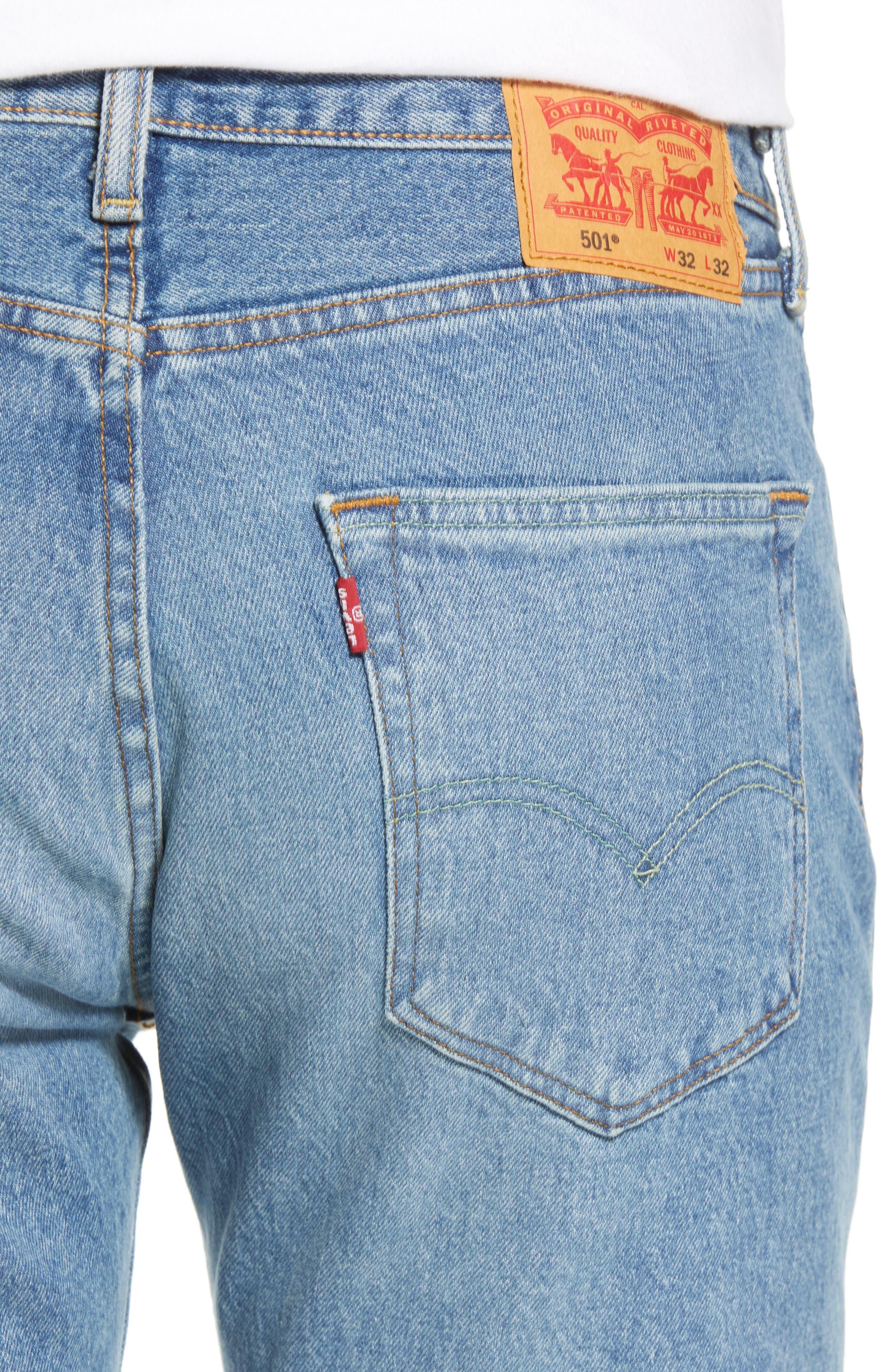 501<sup>®</sup> Original Straight Leg Jeans,                             Alternate thumbnail 4, color,                             The Ben