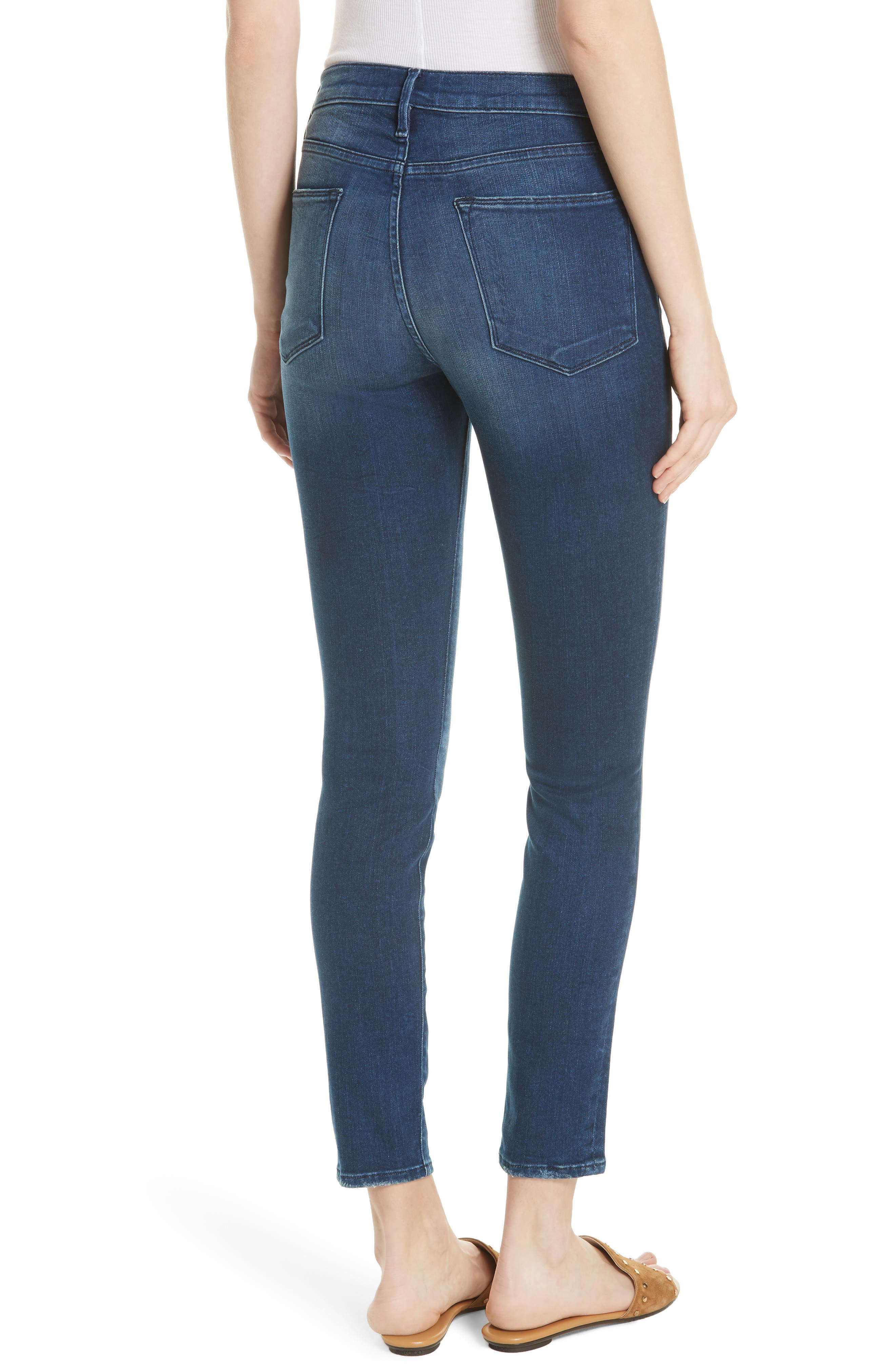 Le High Ankle Skinny Jeans,                             Alternate thumbnail 2, color,                             Silver Spring