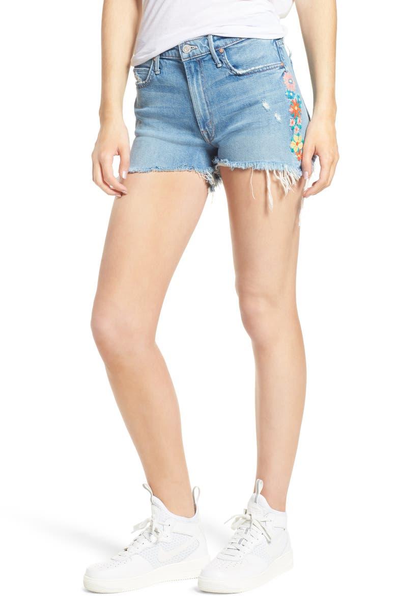 The Dutchie Embroidered Cutoff Denim Shorts