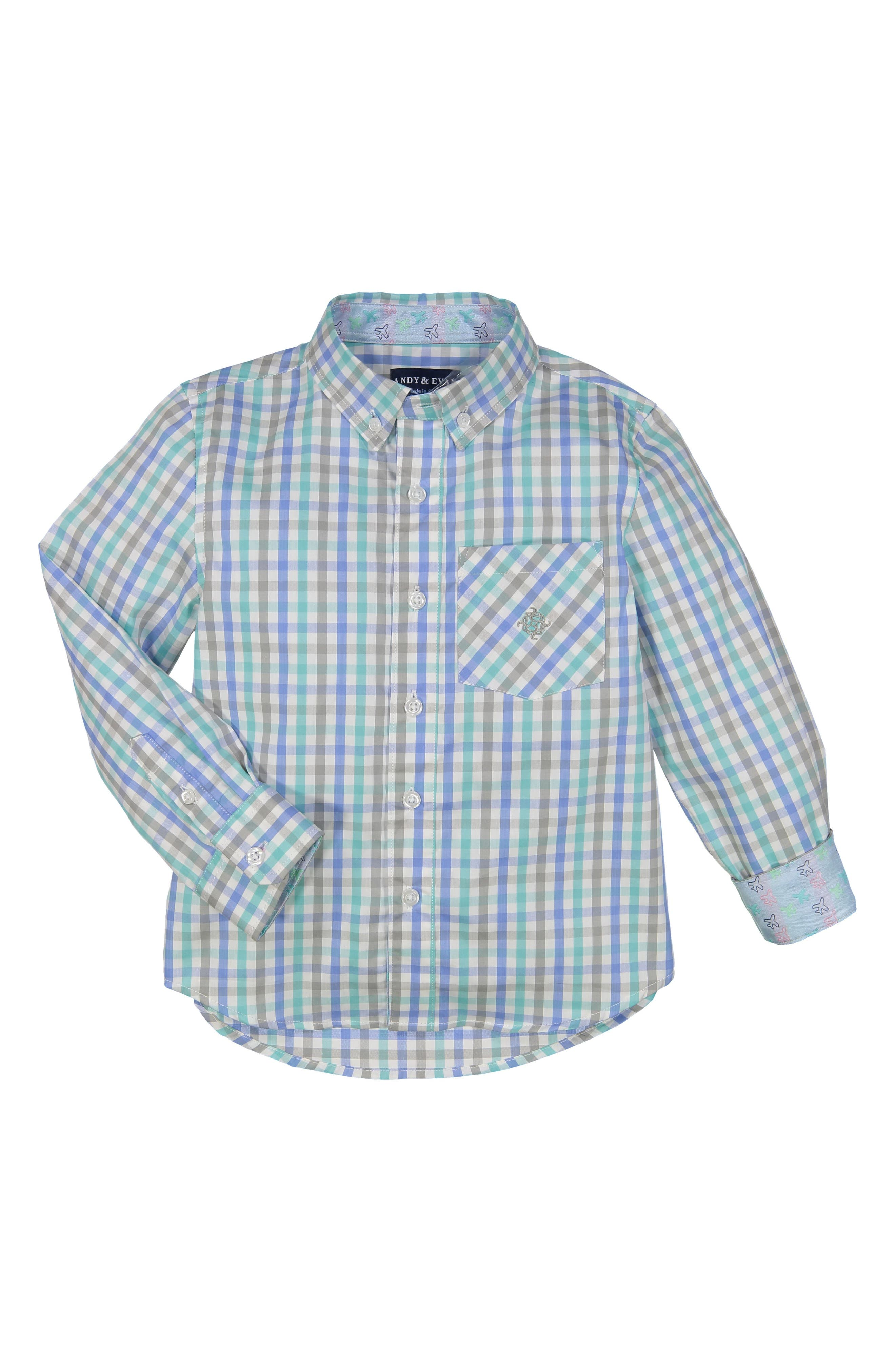 Andy & Evan Check Sport Shirt (Toddler Boys)