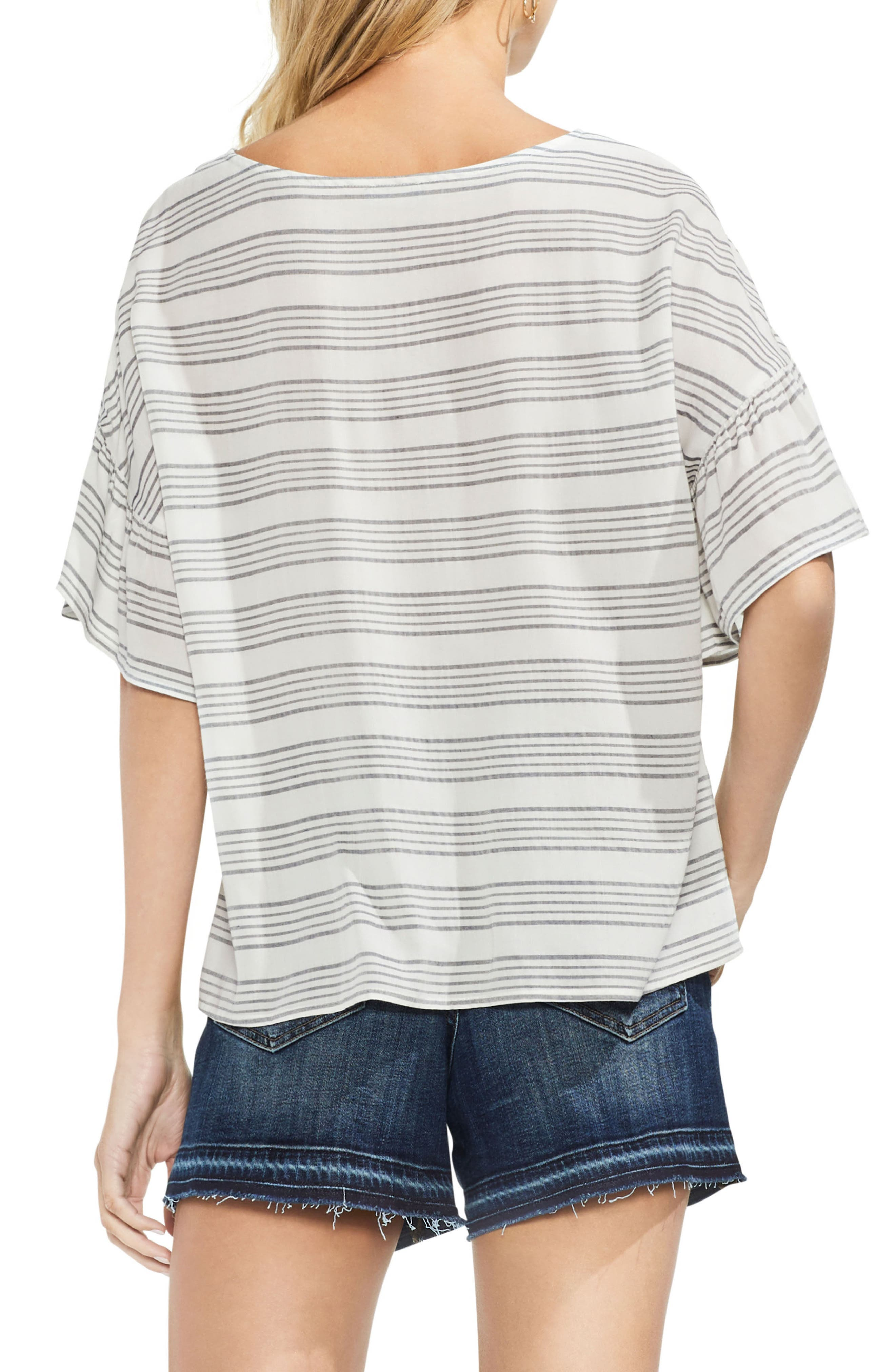 Striped Top,                             Alternate thumbnail 2, color,                             103-New Ivory