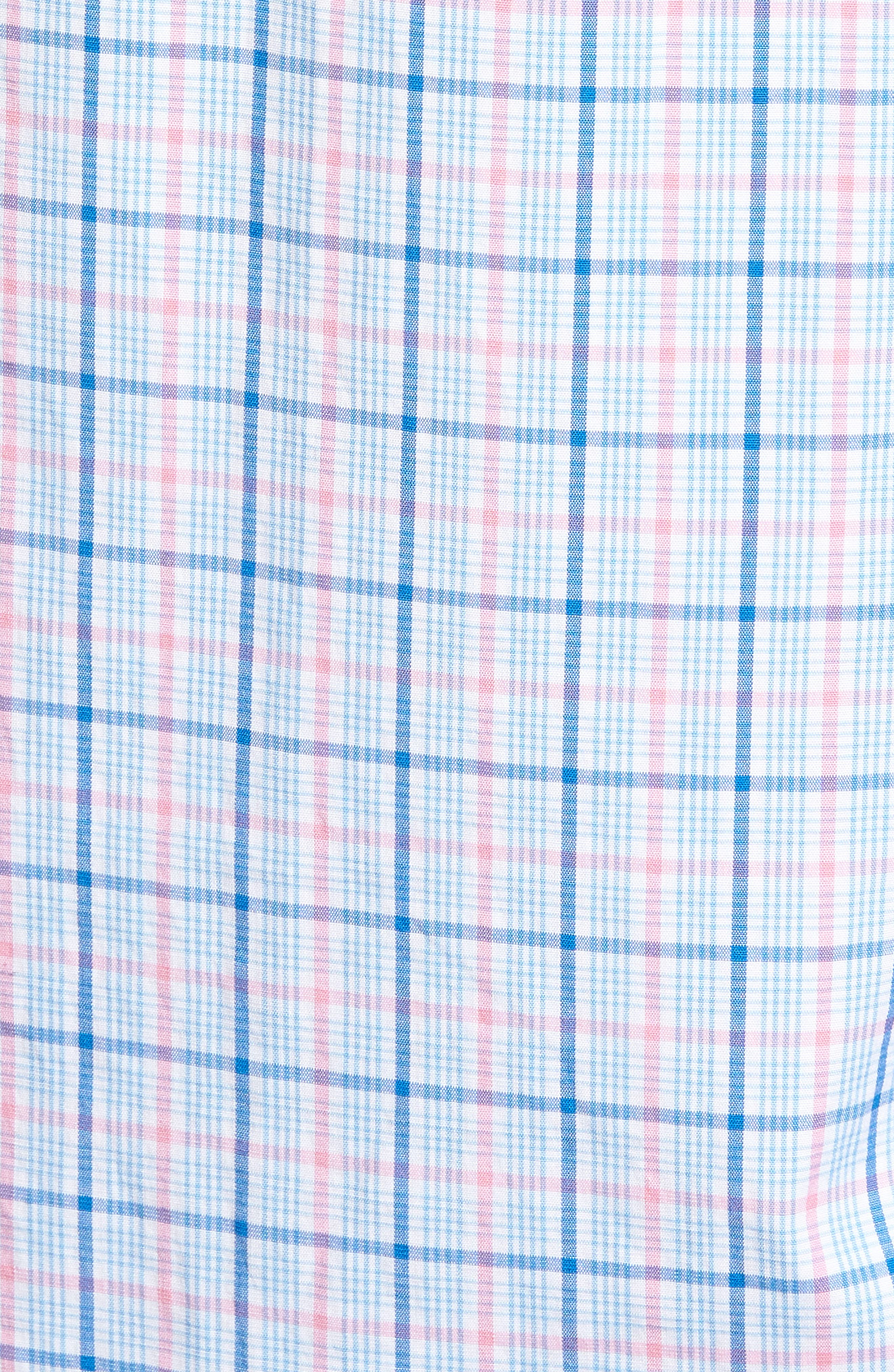 Sir Christie Classic Fit Check Sport Shirt,                             Alternate thumbnail 5, color,                             Spinnaker