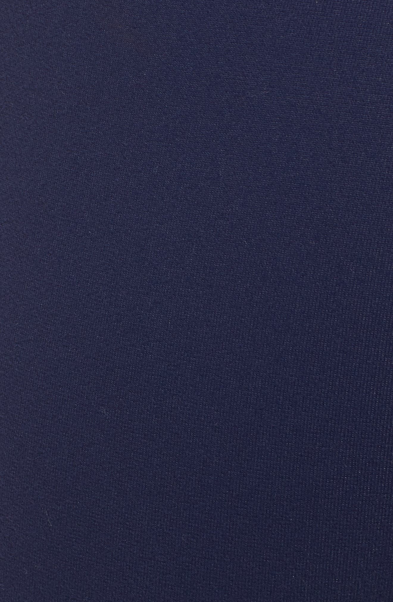 High Waist Capri Leggings,                             Alternate thumbnail 6, color,                             Nightfall