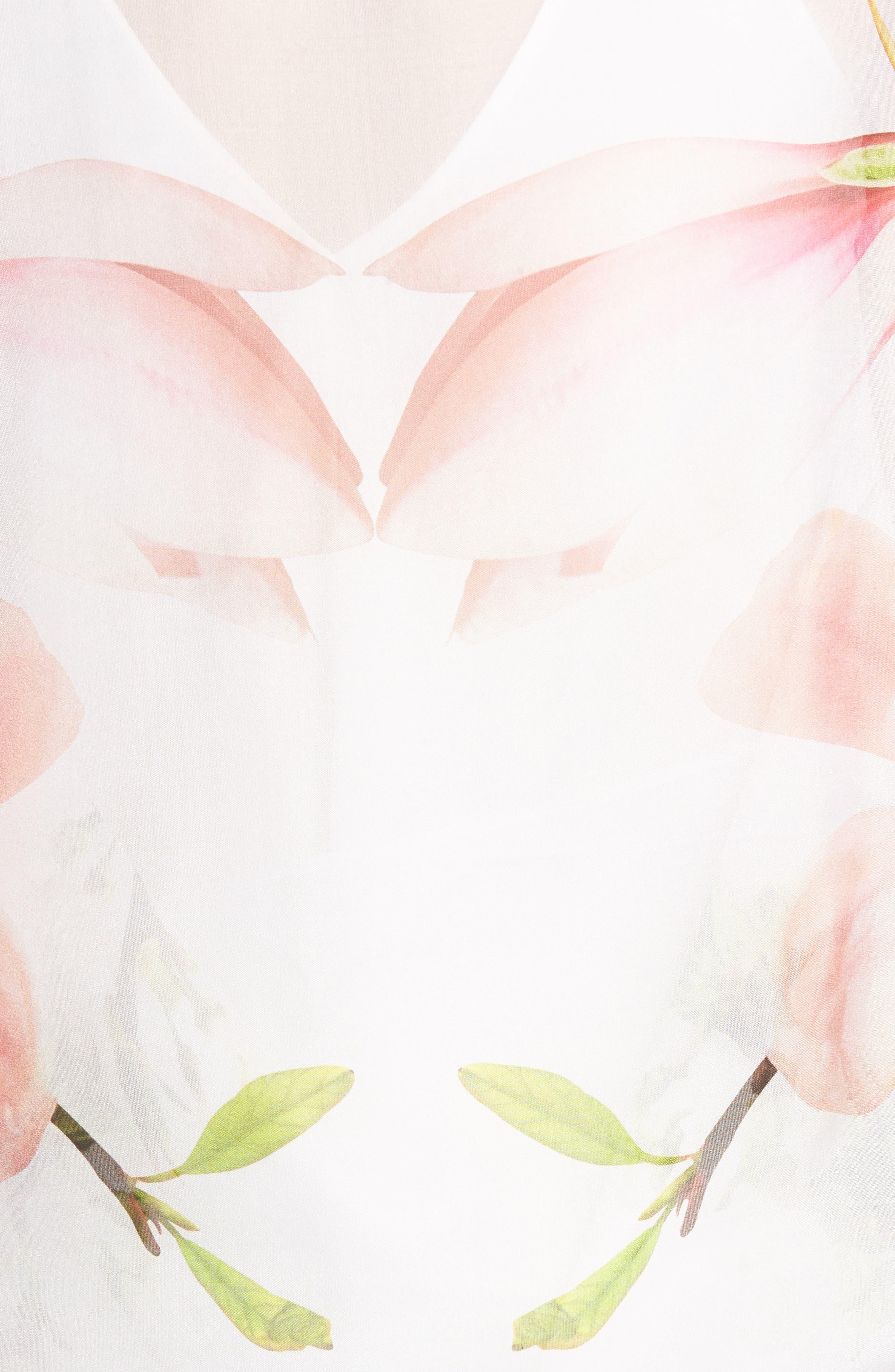 Dottie Silk Cape Scarf,                             Alternate thumbnail 5, color,                             White