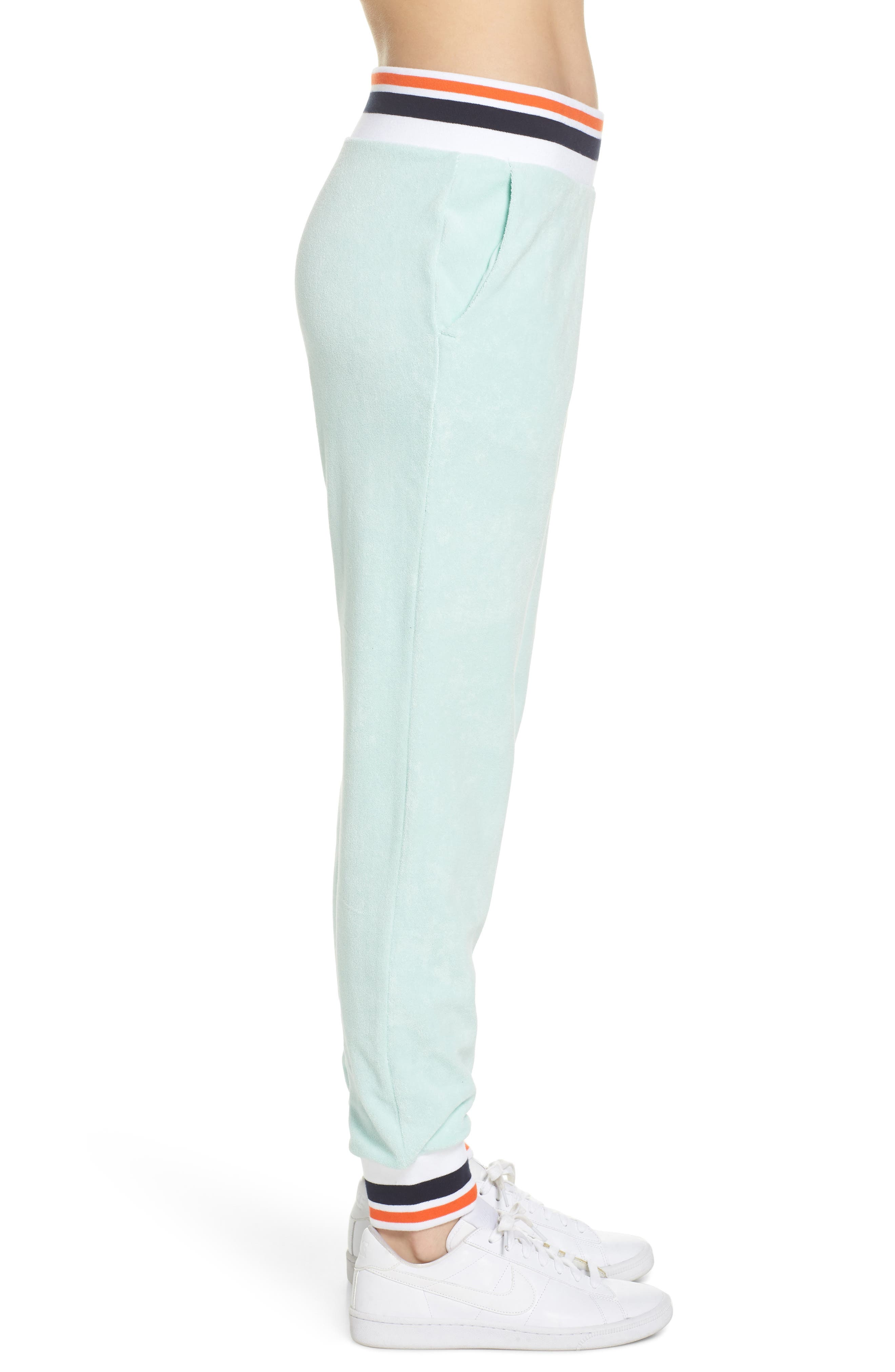 Sportswear French Terry Pants,                             Alternate thumbnail 3, color,                             Igloo/ White