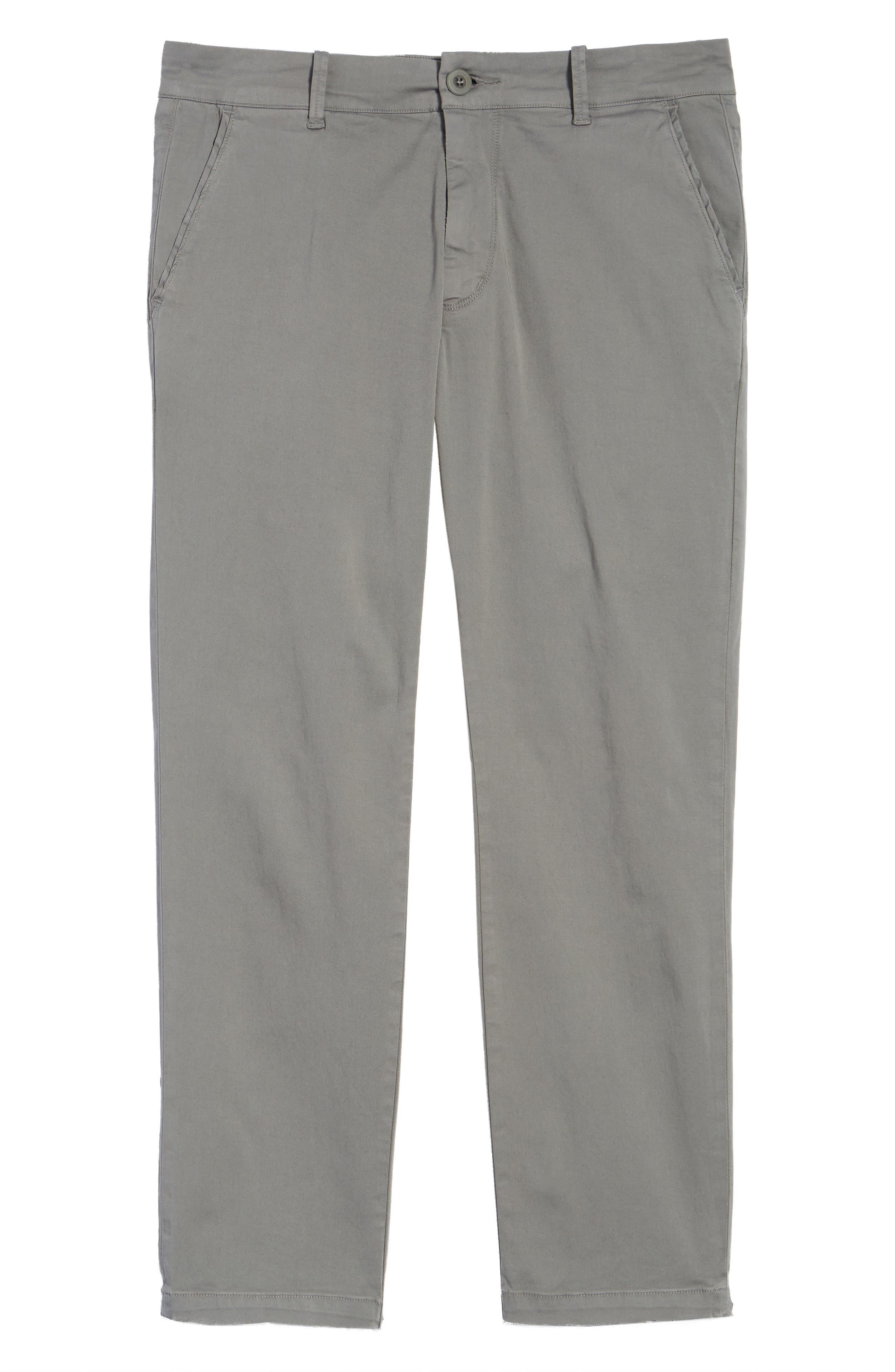 Hudson Clint Stretch Chino Pants,                             Alternate thumbnail 6, color,                             Grey