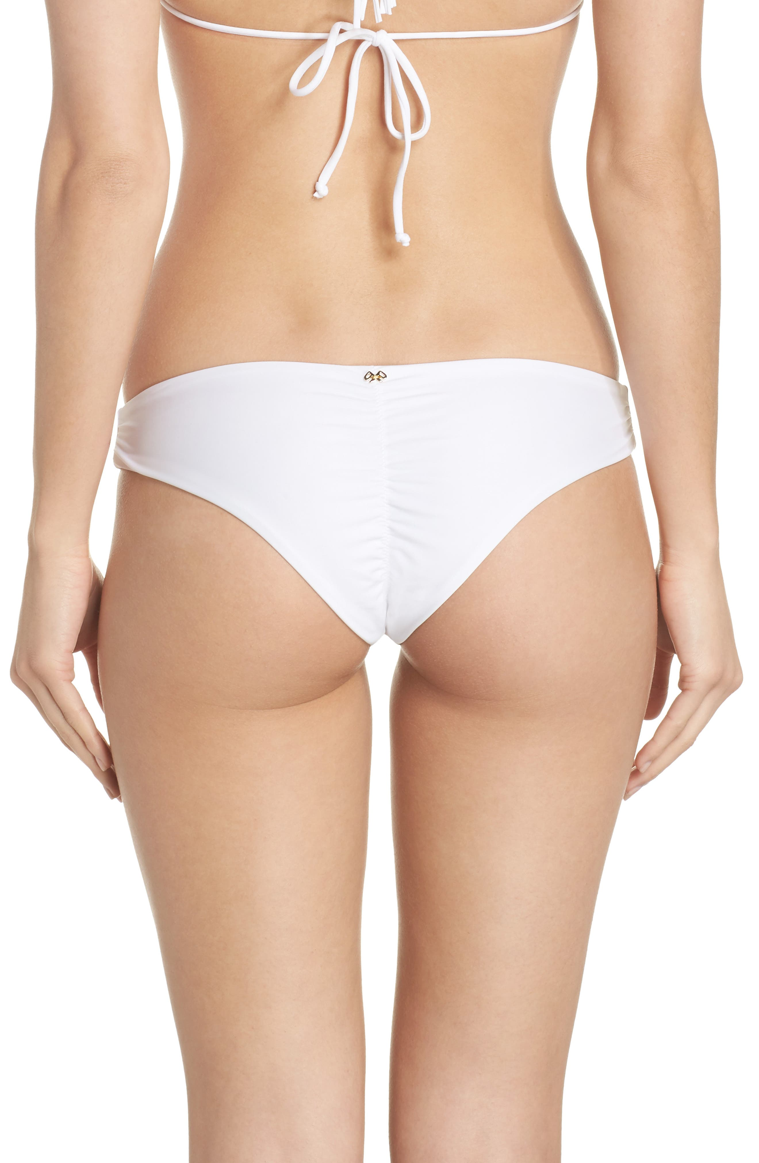 Ruched Bikini Bottoms,                             Alternate thumbnail 2, color,                             Water Lily