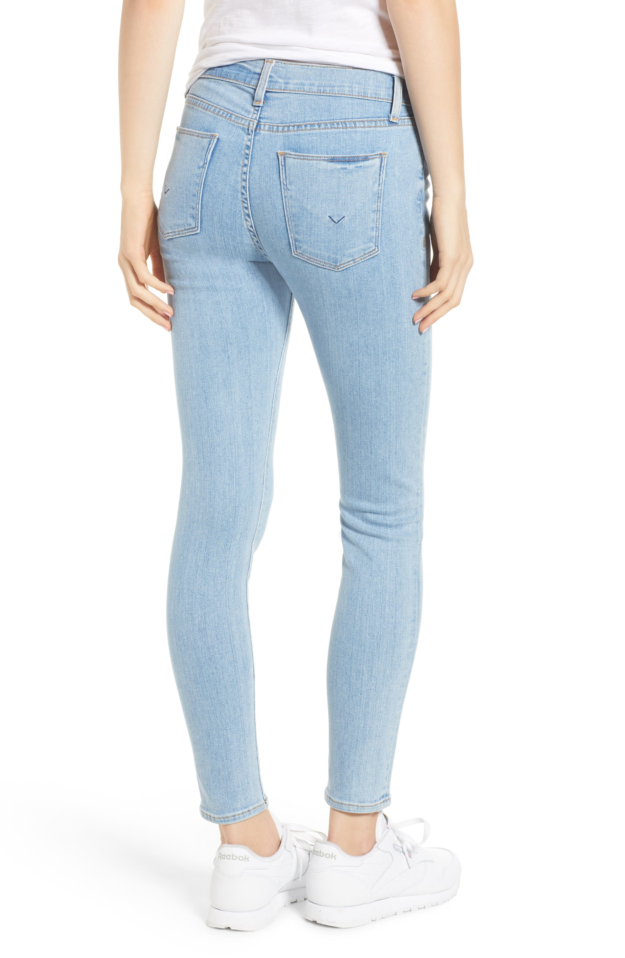 Barbara High Waist Super Skinny Jeans,                             Alternate thumbnail 2, color,                             Nymph