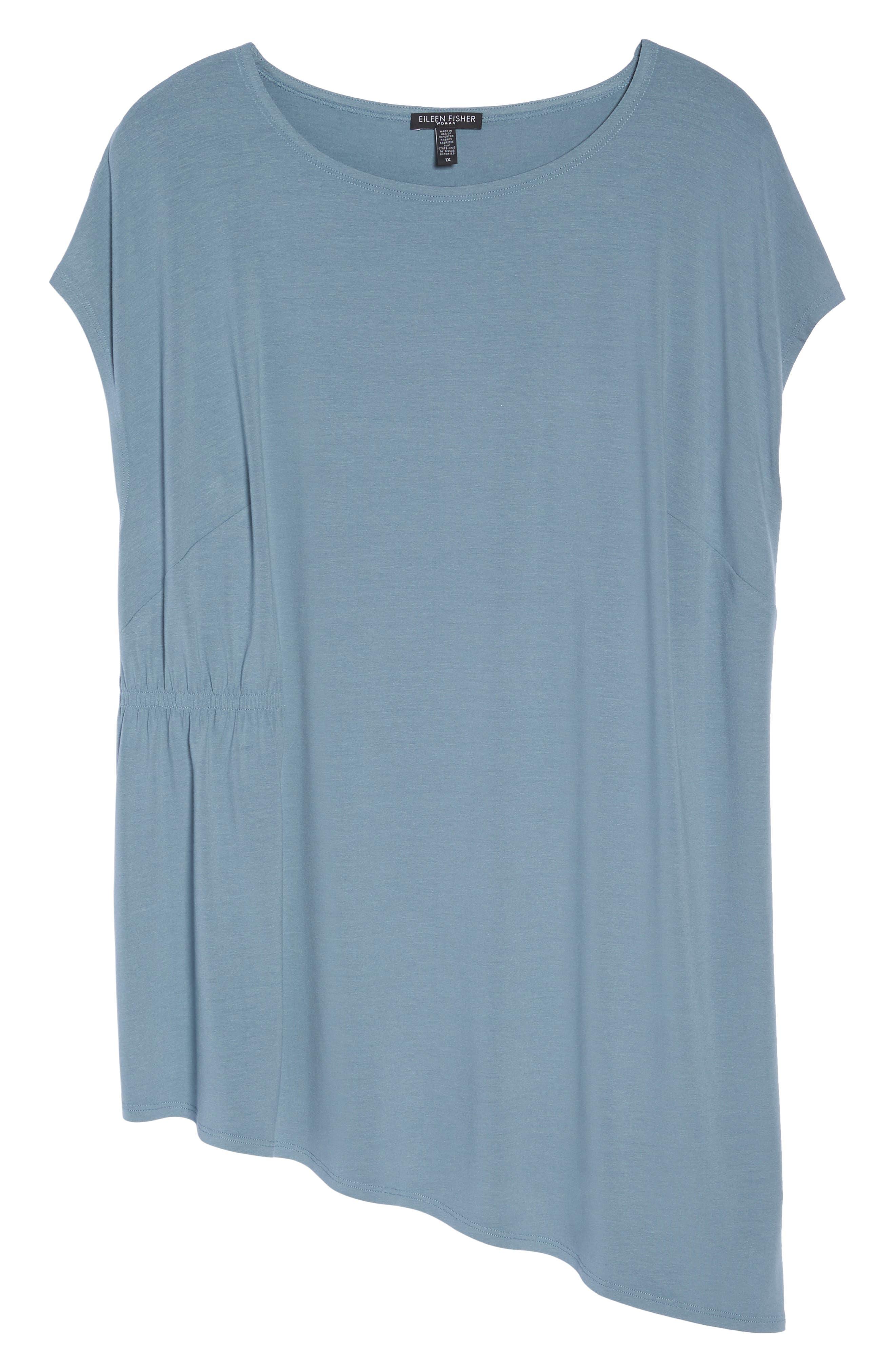 Asymmetrical Jersey Top,                             Alternate thumbnail 7, color,                             Blue Steel