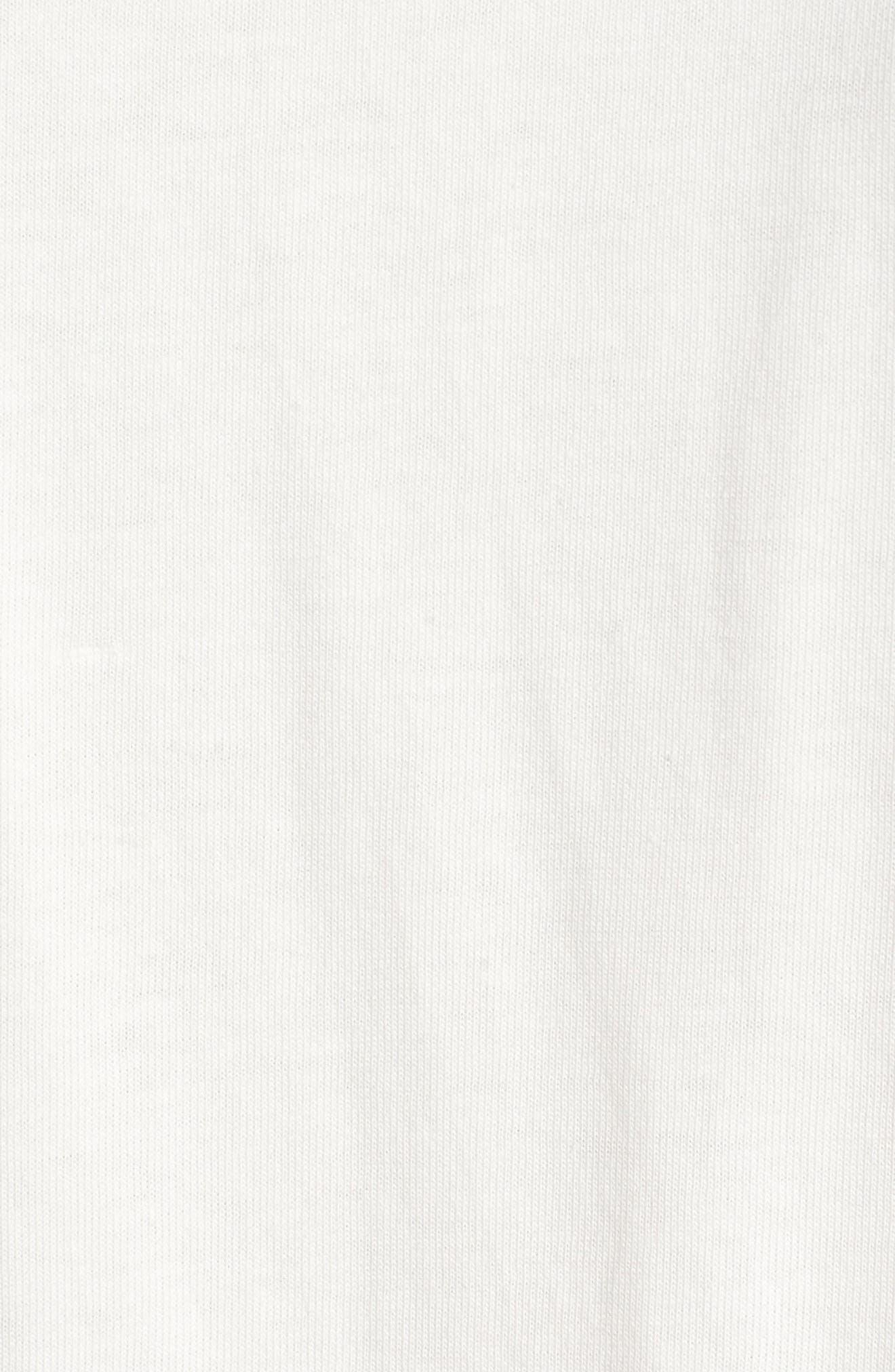 Pocket T-Shirt Dress,                             Alternate thumbnail 6, color,                             Bright Ivory