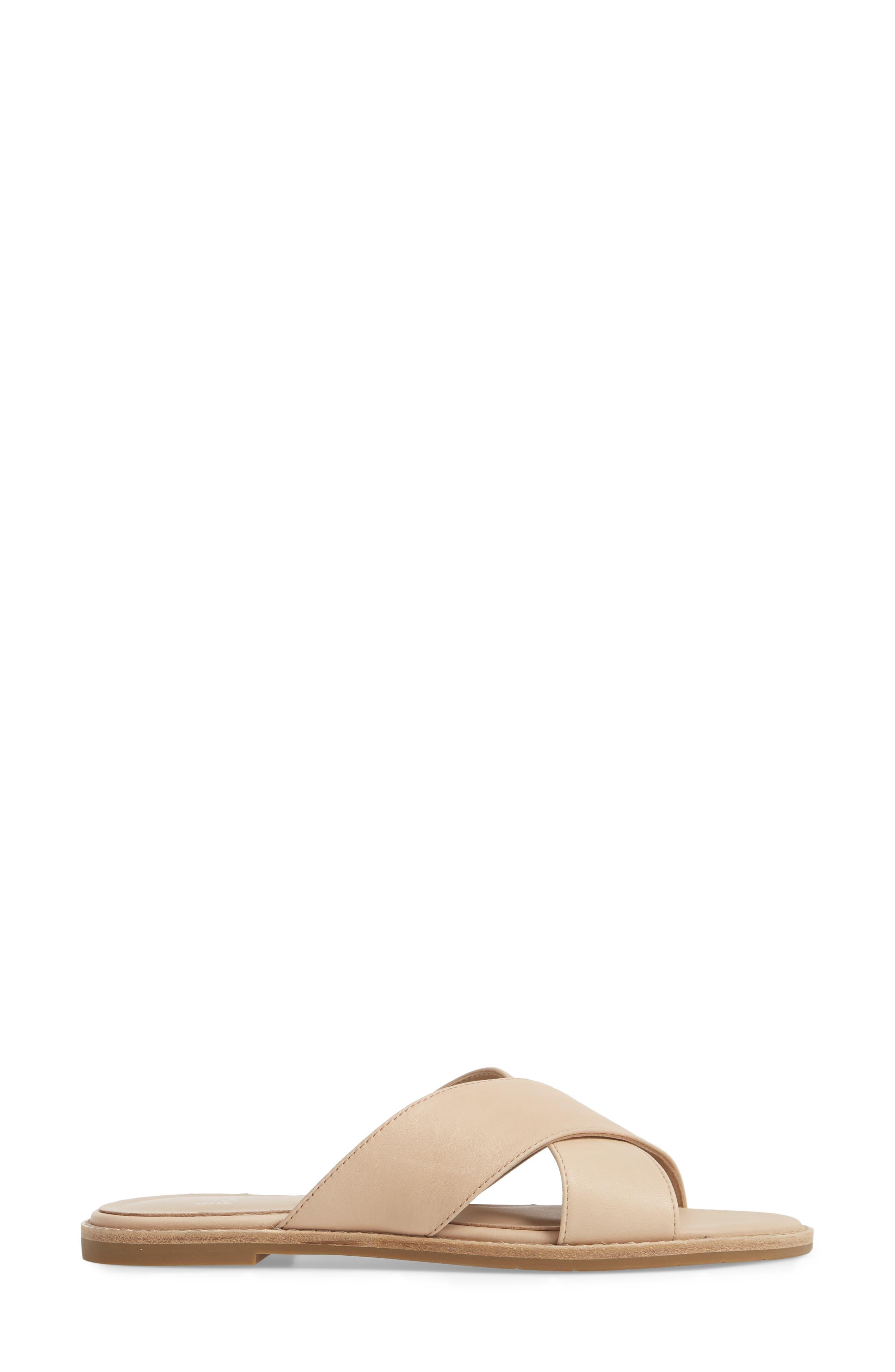 Cape Slide Sandal,                             Alternate thumbnail 3, color,                             Desert Leather