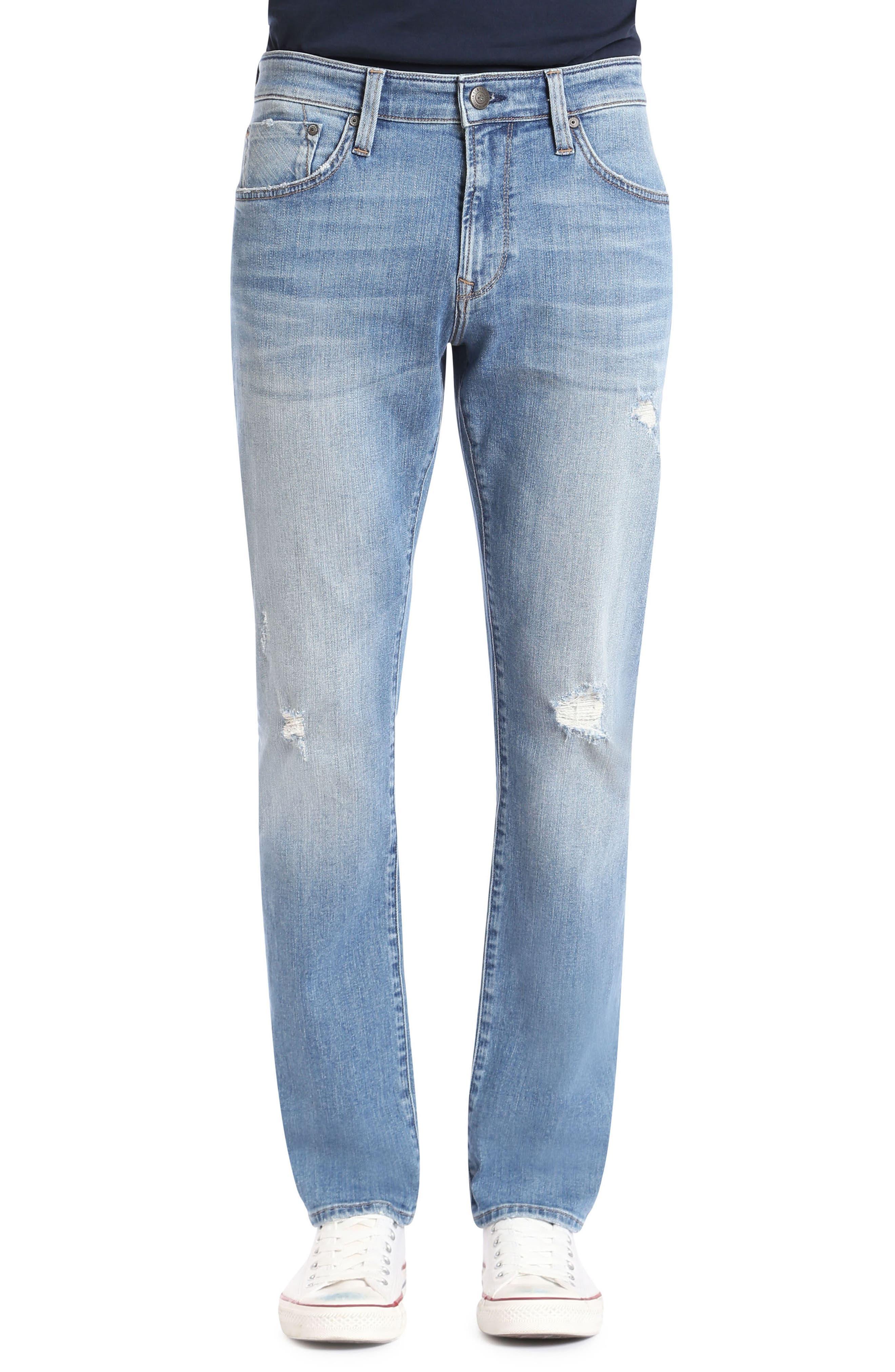 Marcus Slim Straight Leg Jeans,                         Main,                         color, Light Used Authentic Vintage