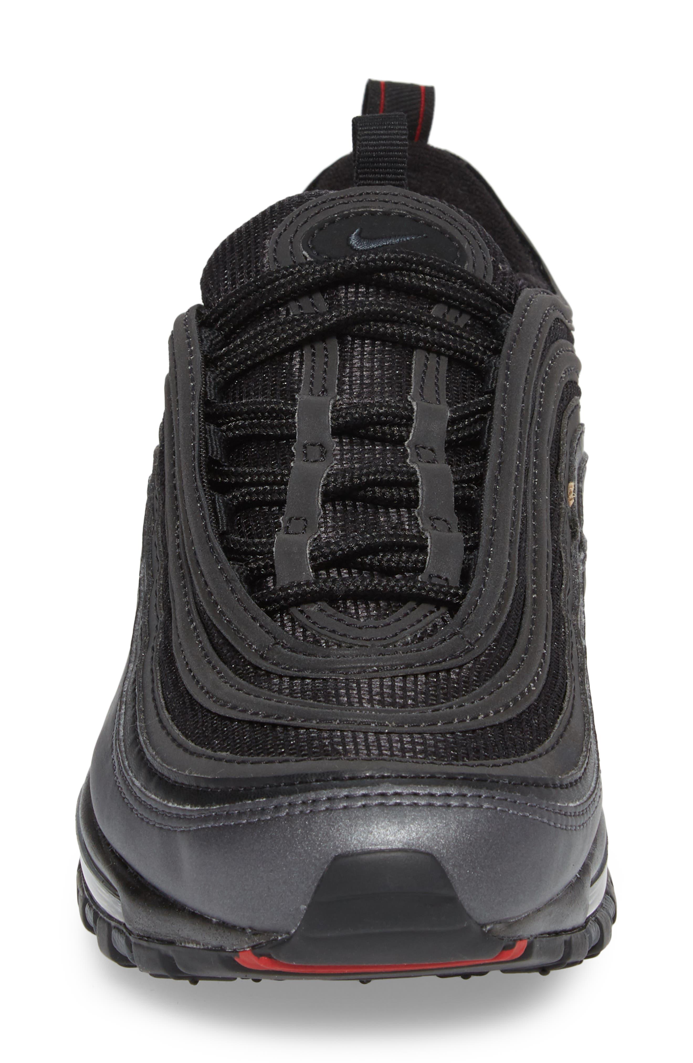 Air Max 97 Sneaker,                             Alternate thumbnail 4, color,                             Black/ Anthracite/ Hematite