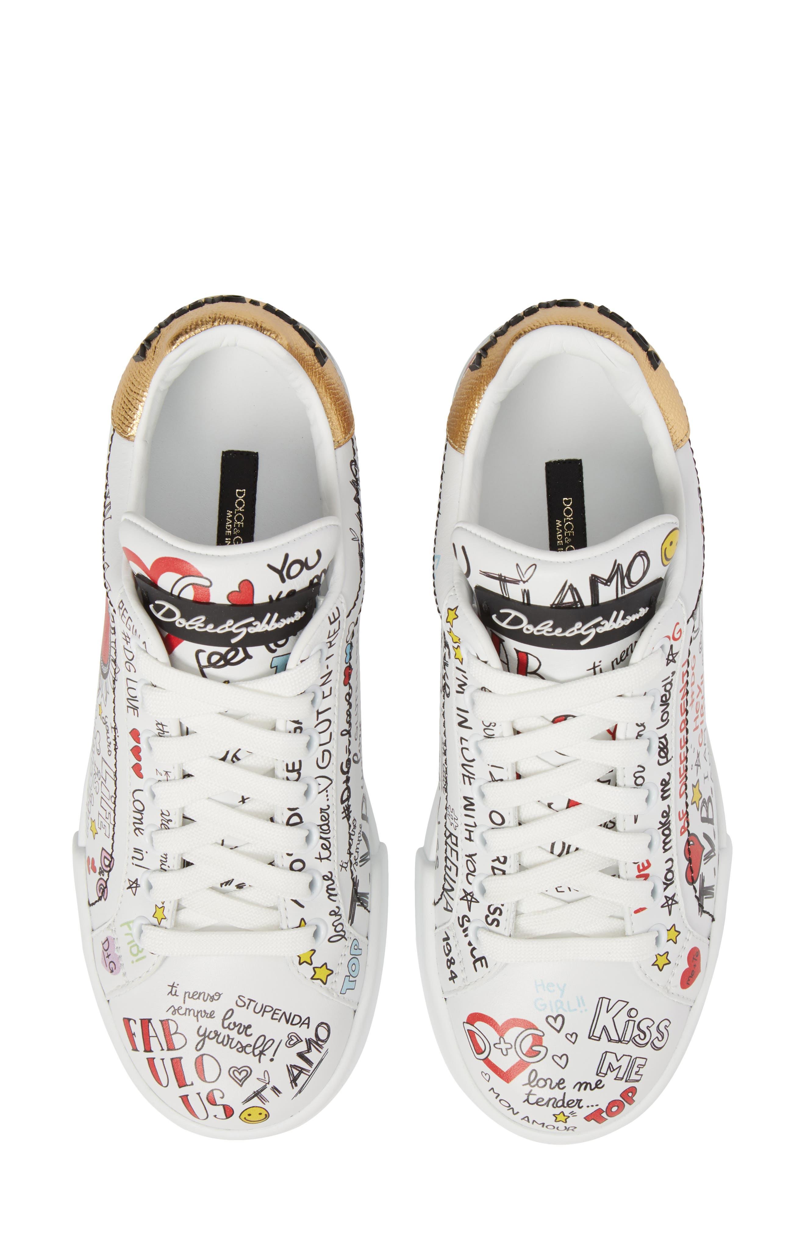 Graffiti Sneaker,                             Main thumbnail 1, color,                             White