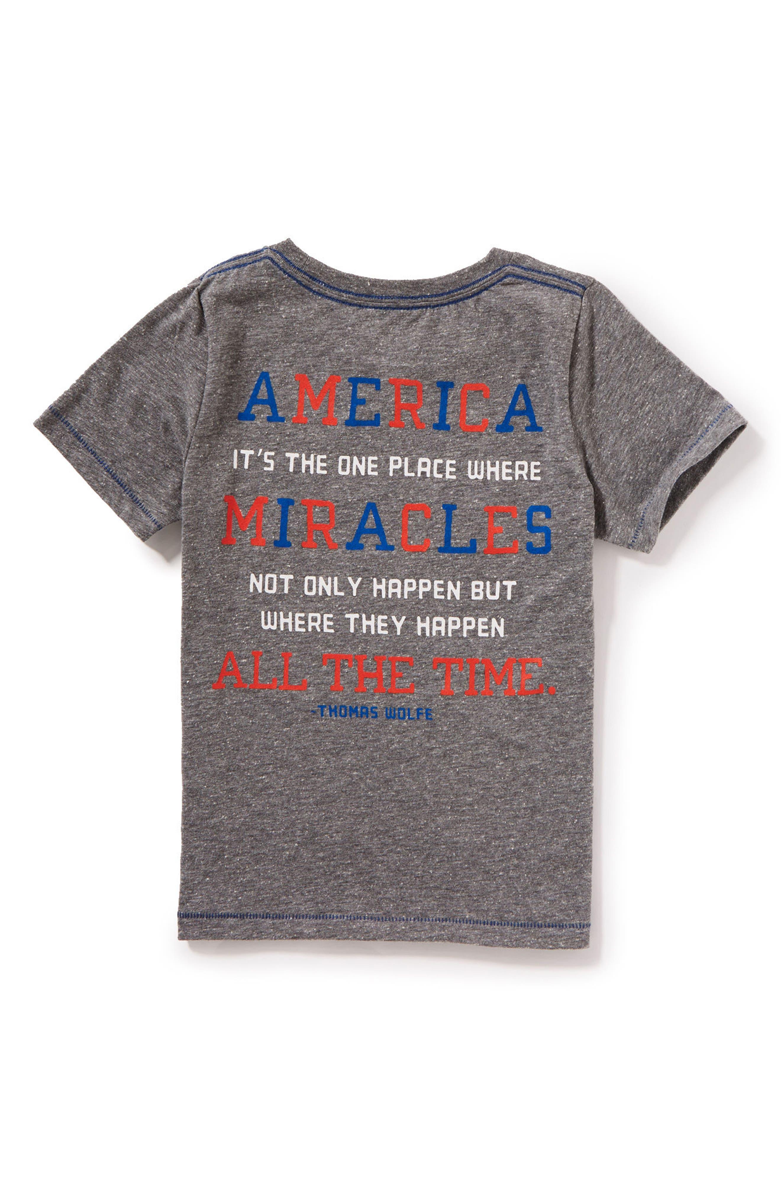 Flag Peace Graphic T-Shirt,                             Alternate thumbnail 2, color,                             Medium Grey