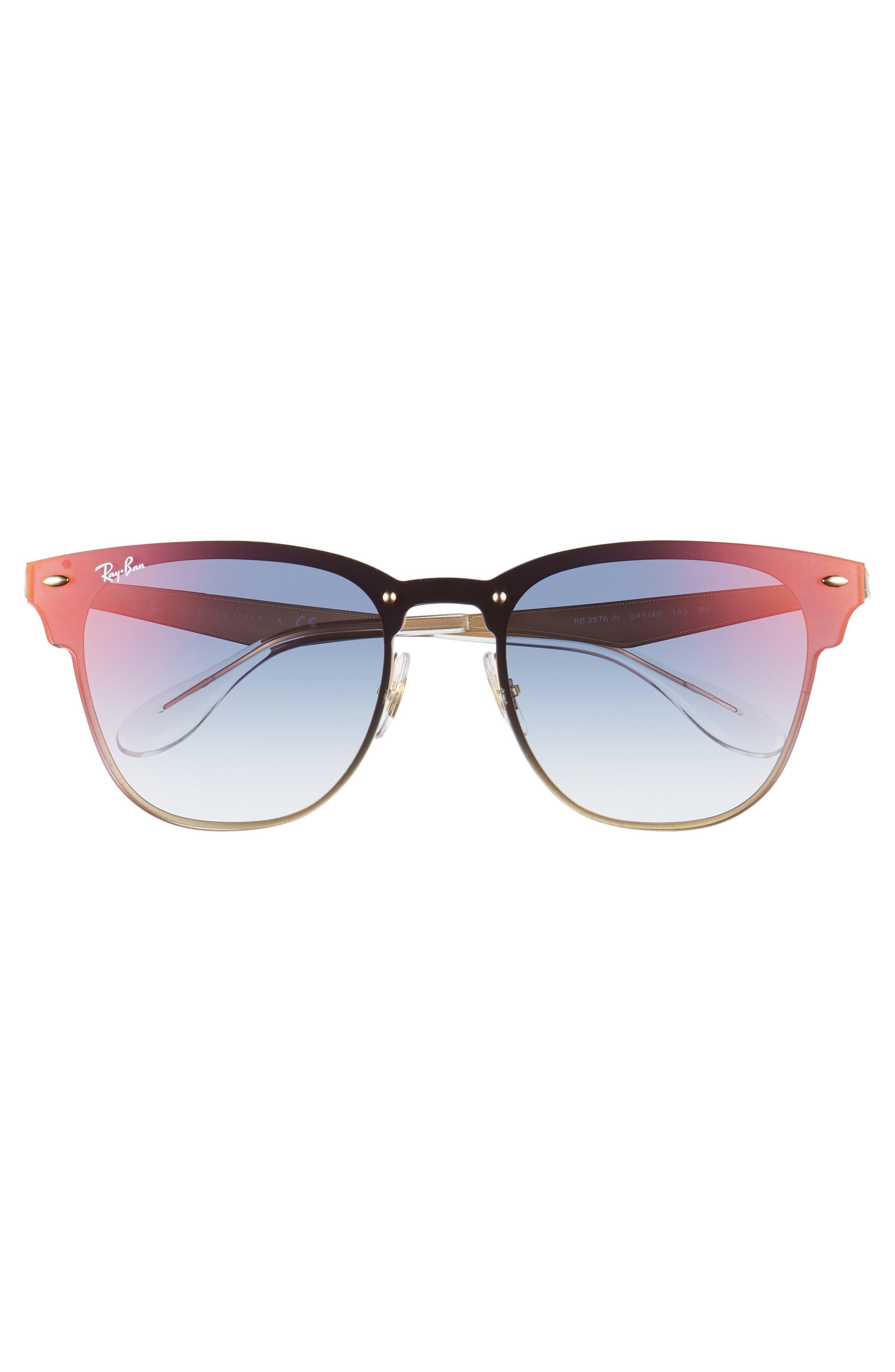 Blaze Clubmaster 47mm Sunglasses,                             Alternate thumbnail 3, color,                             Gold