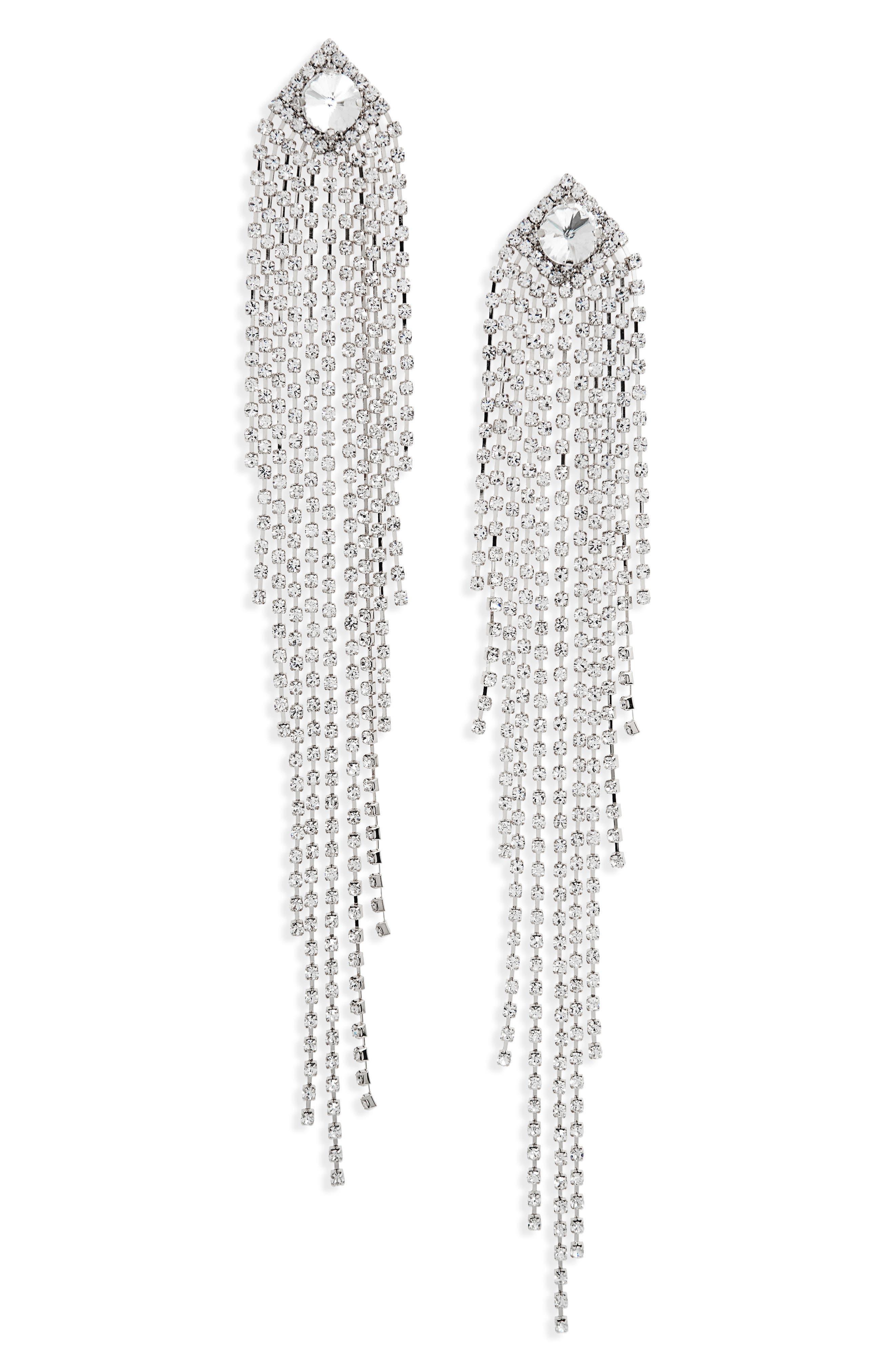 Main Image - Natasha Drama Crystal Shoulder Duster Earrings