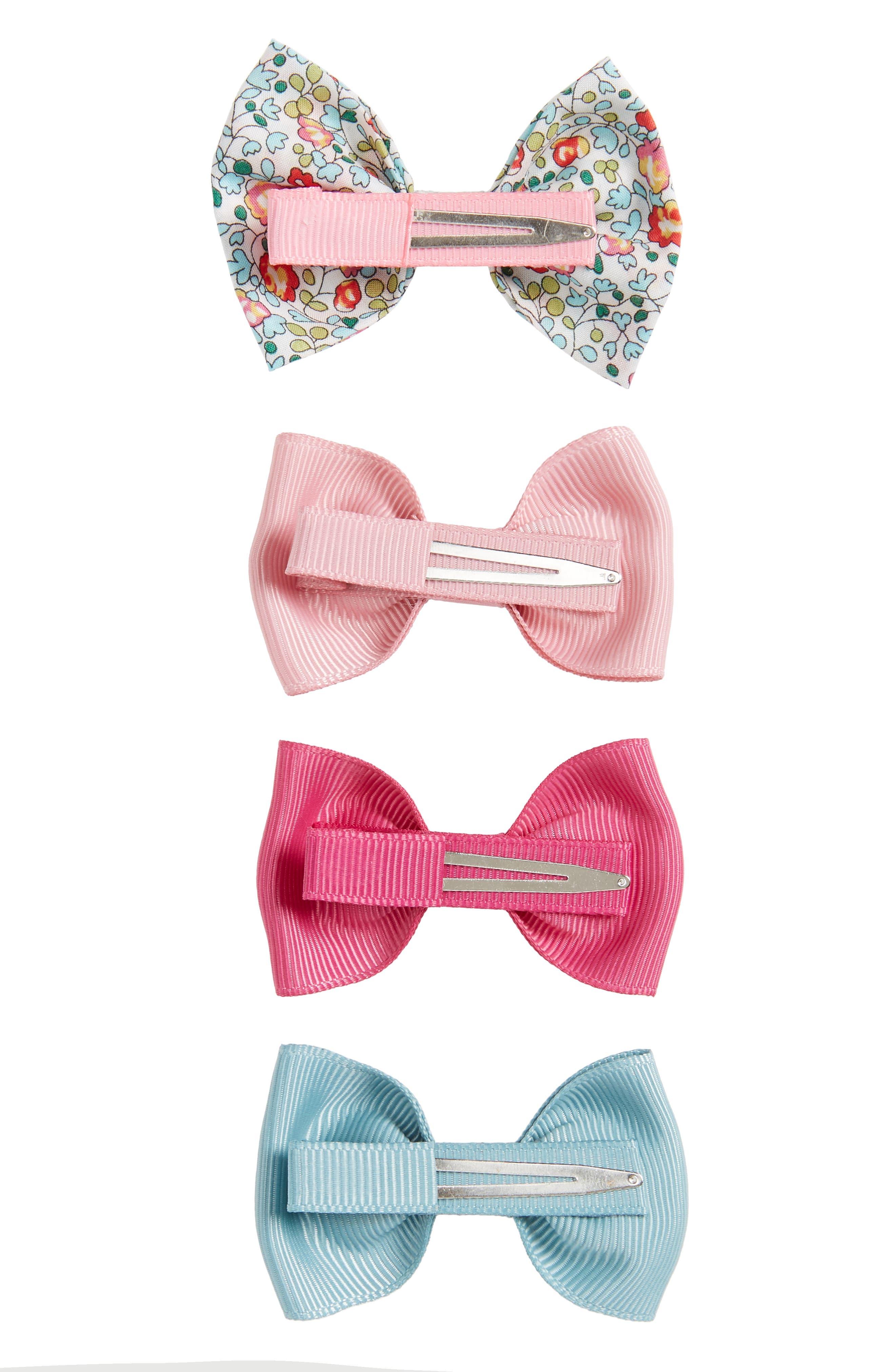 4-Piece Bows Hair Clip Set,                             Alternate thumbnail 2, color,                             Assorted