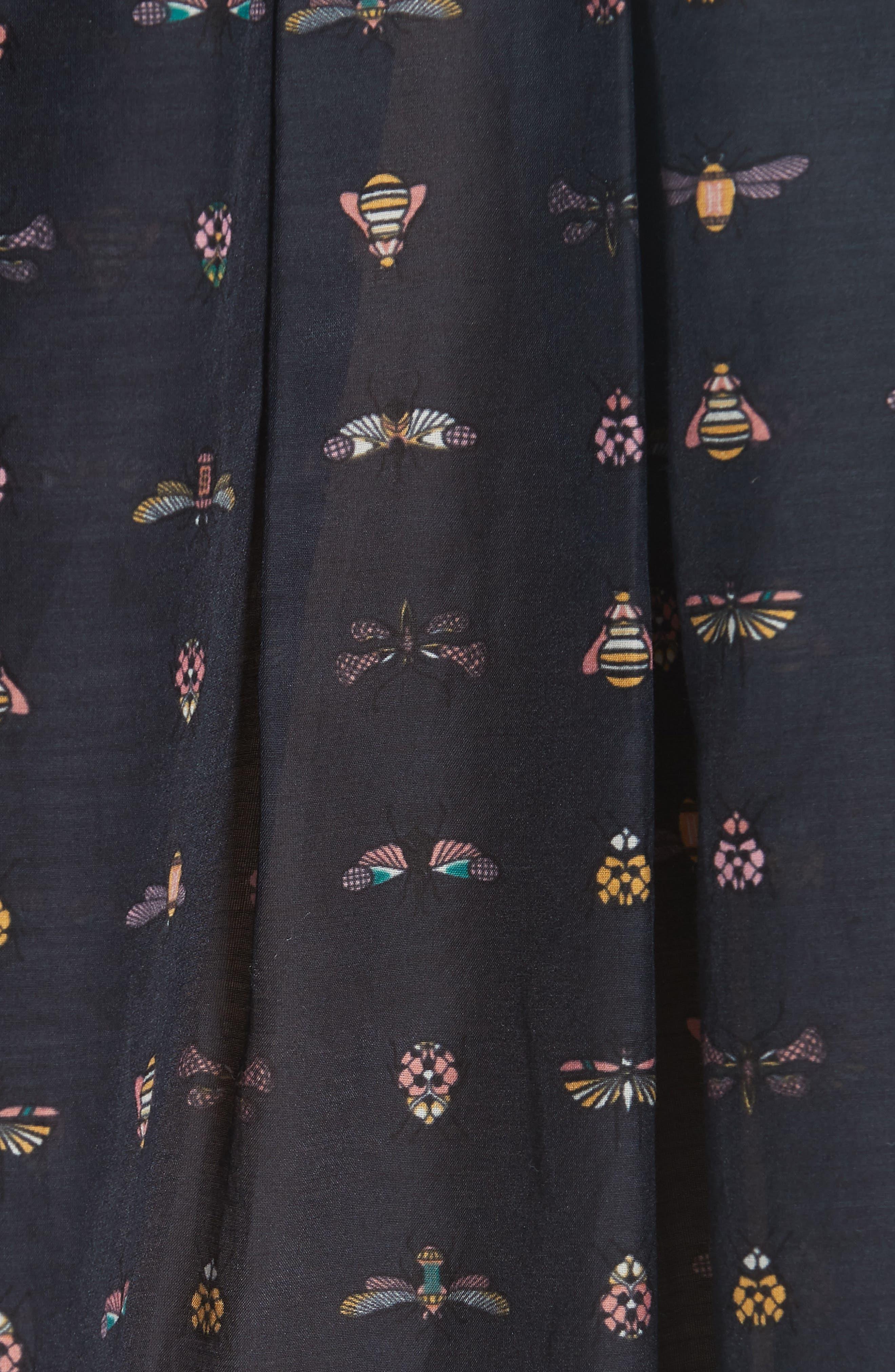 Elley Cotton & Silk Shirt,                             Alternate thumbnail 5, color,                             Eclipse Multi