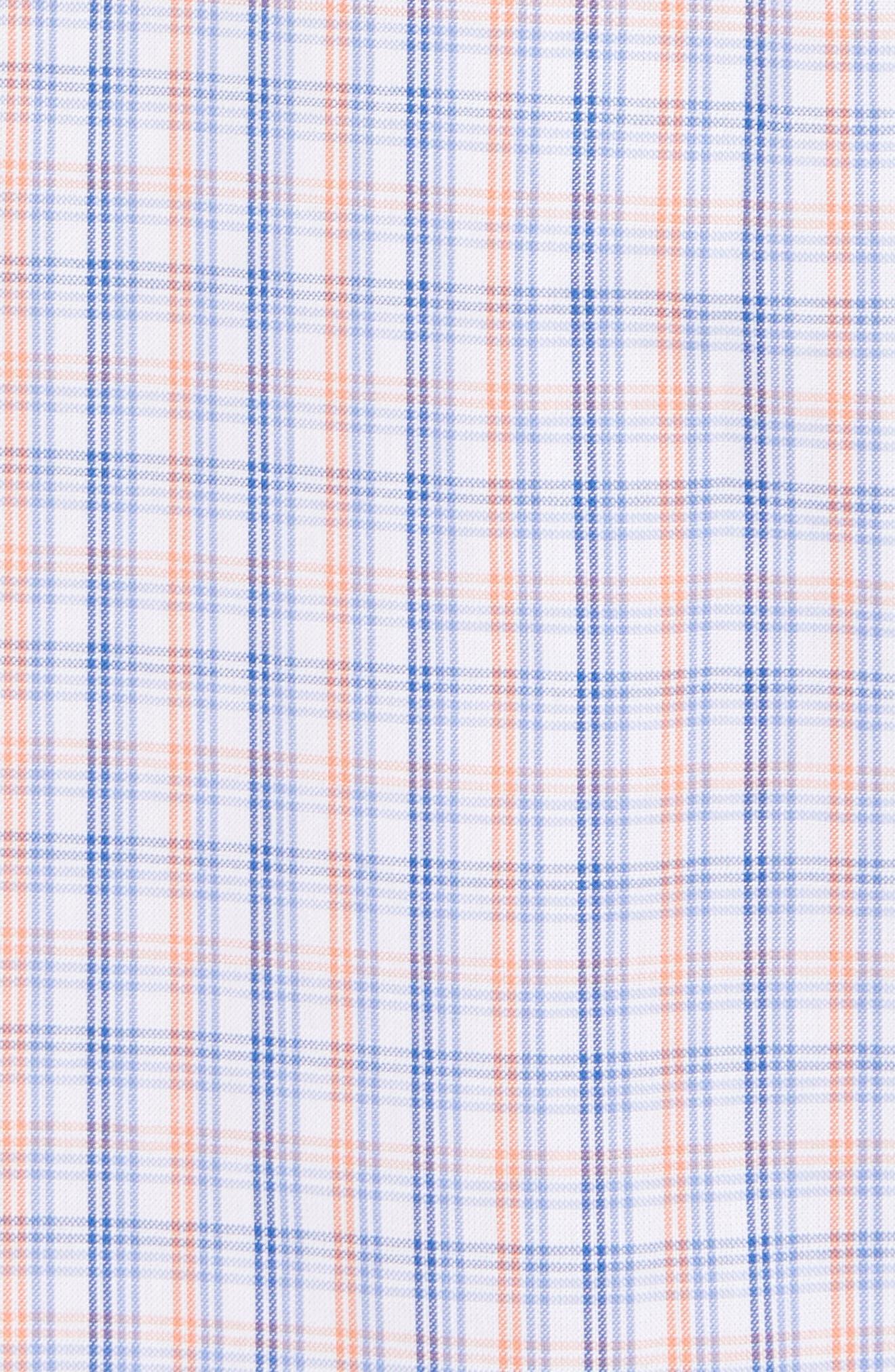 Javion Regular Fit Check Sport Shirt,                             Alternate thumbnail 5, color,                             Orange