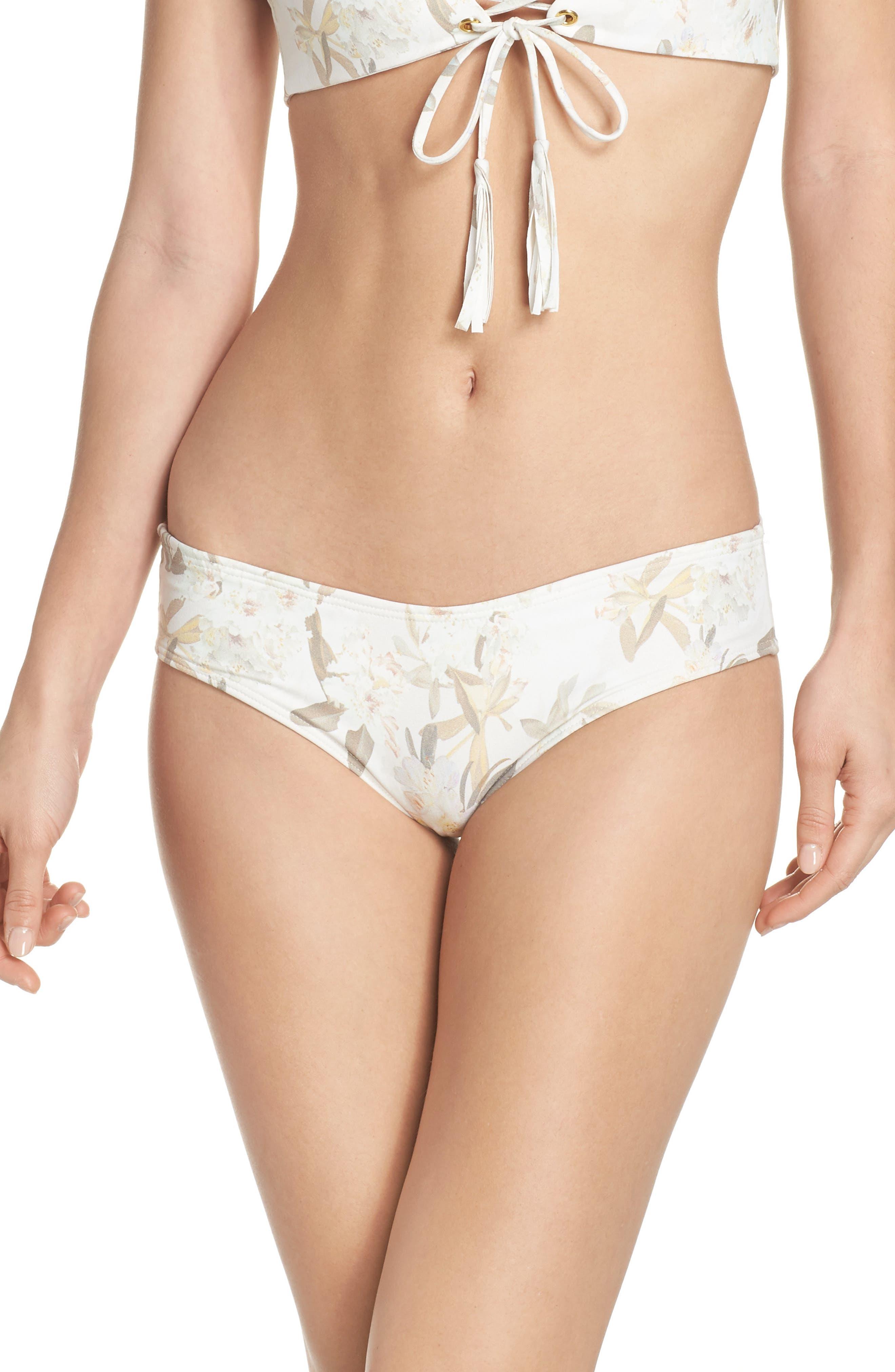 AC Nu Micro Bikini Bottoms,                             Main thumbnail 1, color,                             Ete Floral White