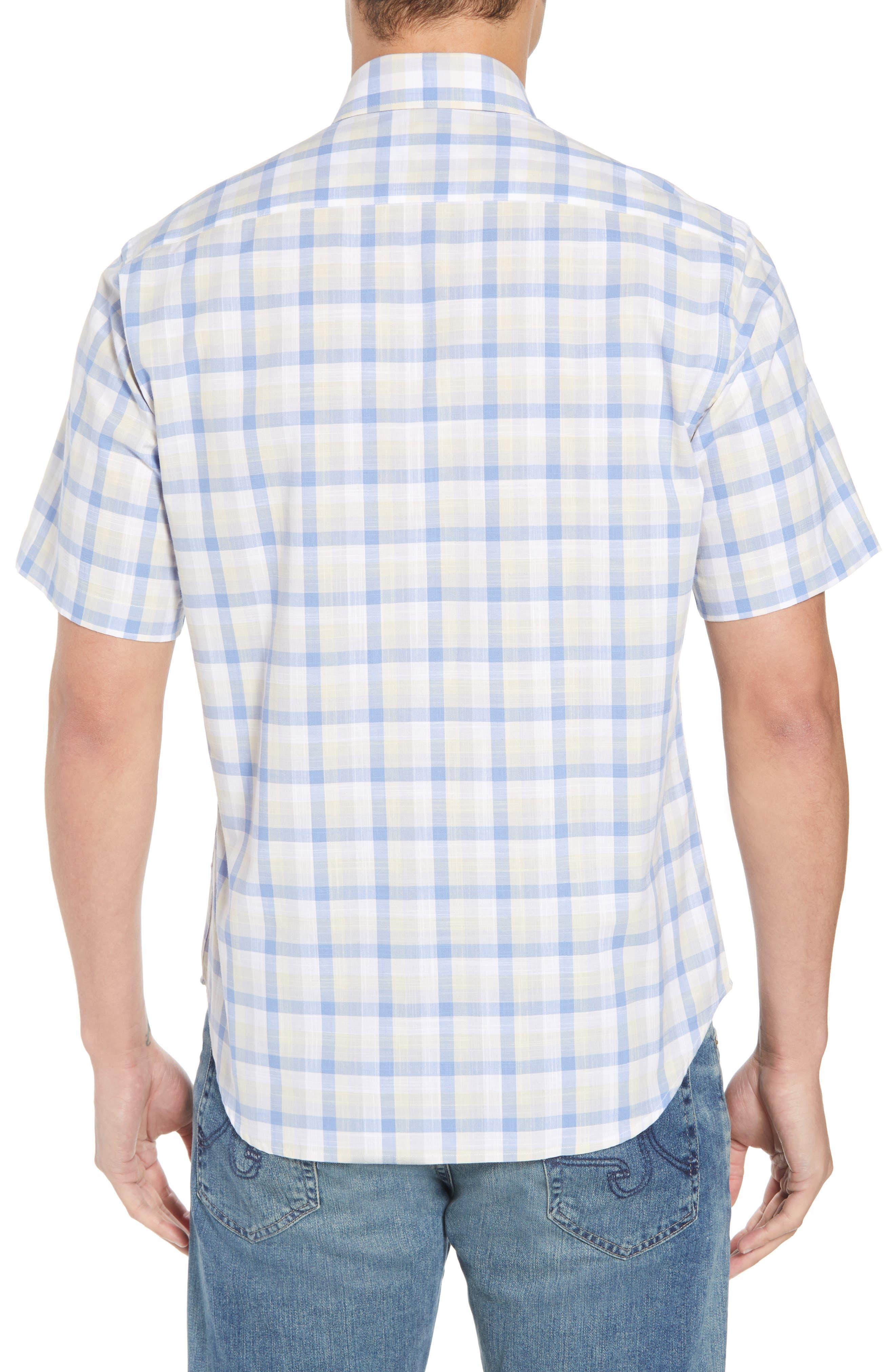 Jaziel Regular Fit Check Sport Shirt,                             Alternate thumbnail 3, color,                             Light Blue