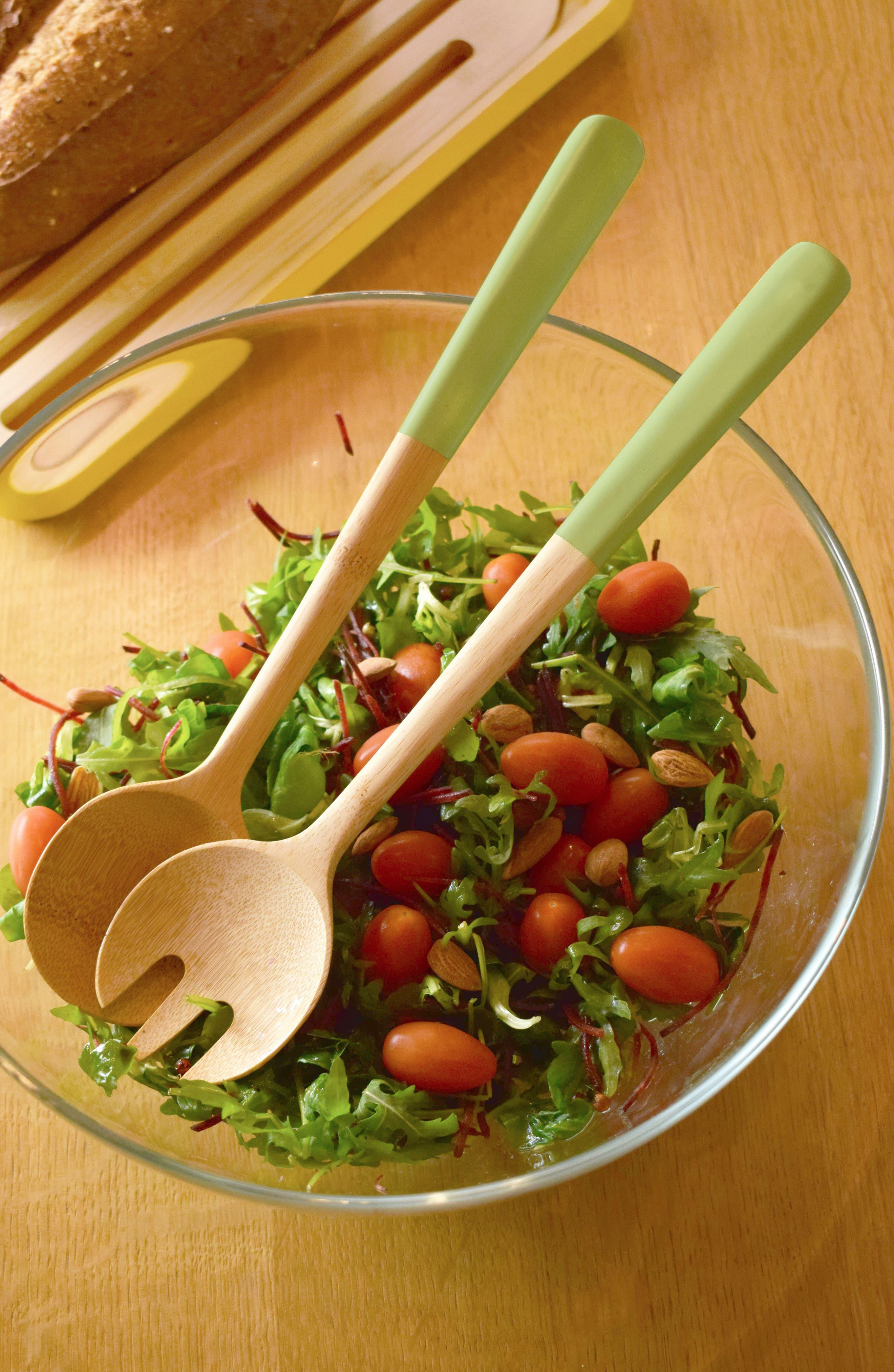 Bamboo Salad Servers,                             Alternate thumbnail 2, color,                             Pistachio Green