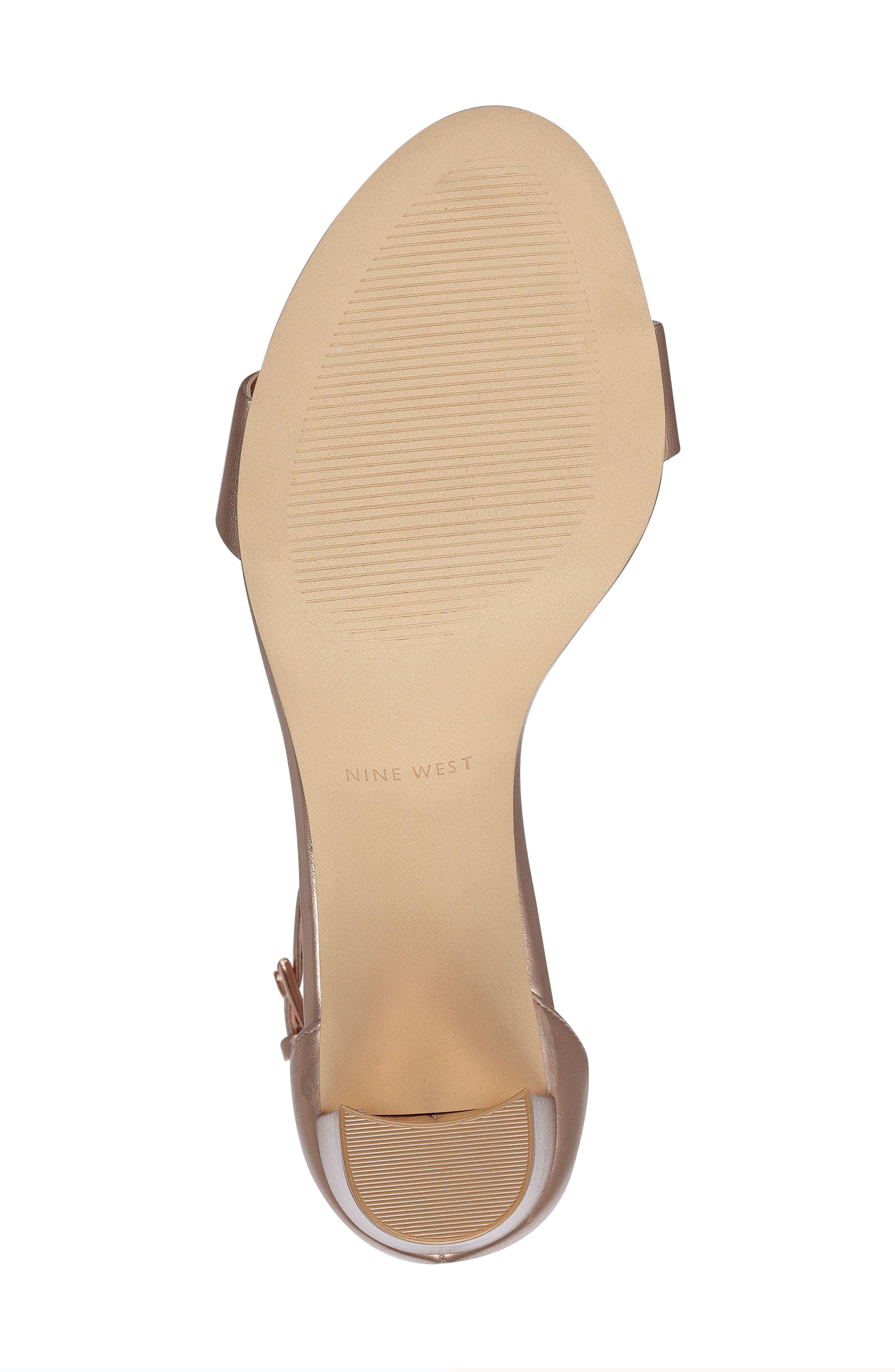 Pruce Ankle Strap Sandal,                             Alternate thumbnail 6, color,                             Matte Rose Gold